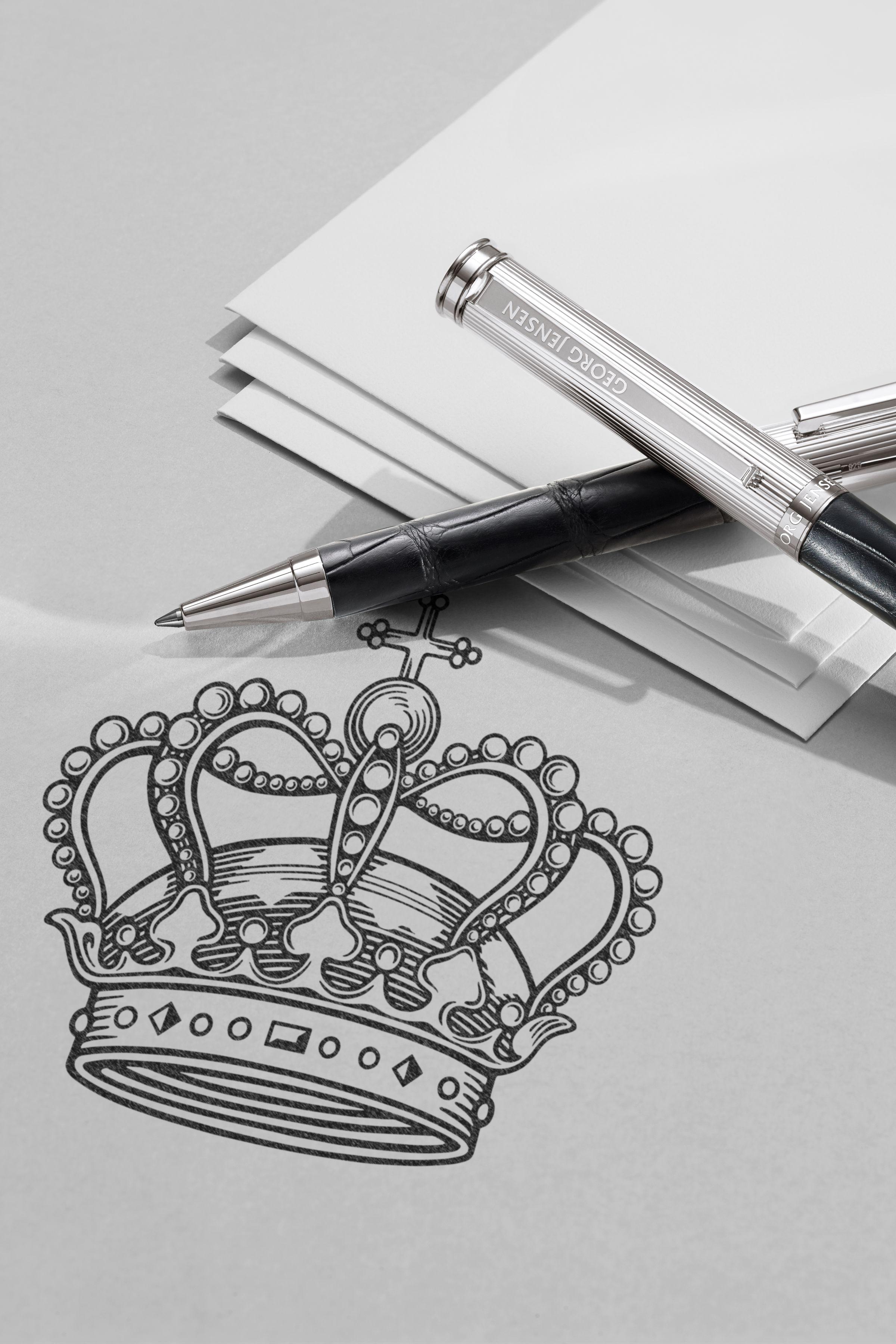 Georg Jensen crown logo design