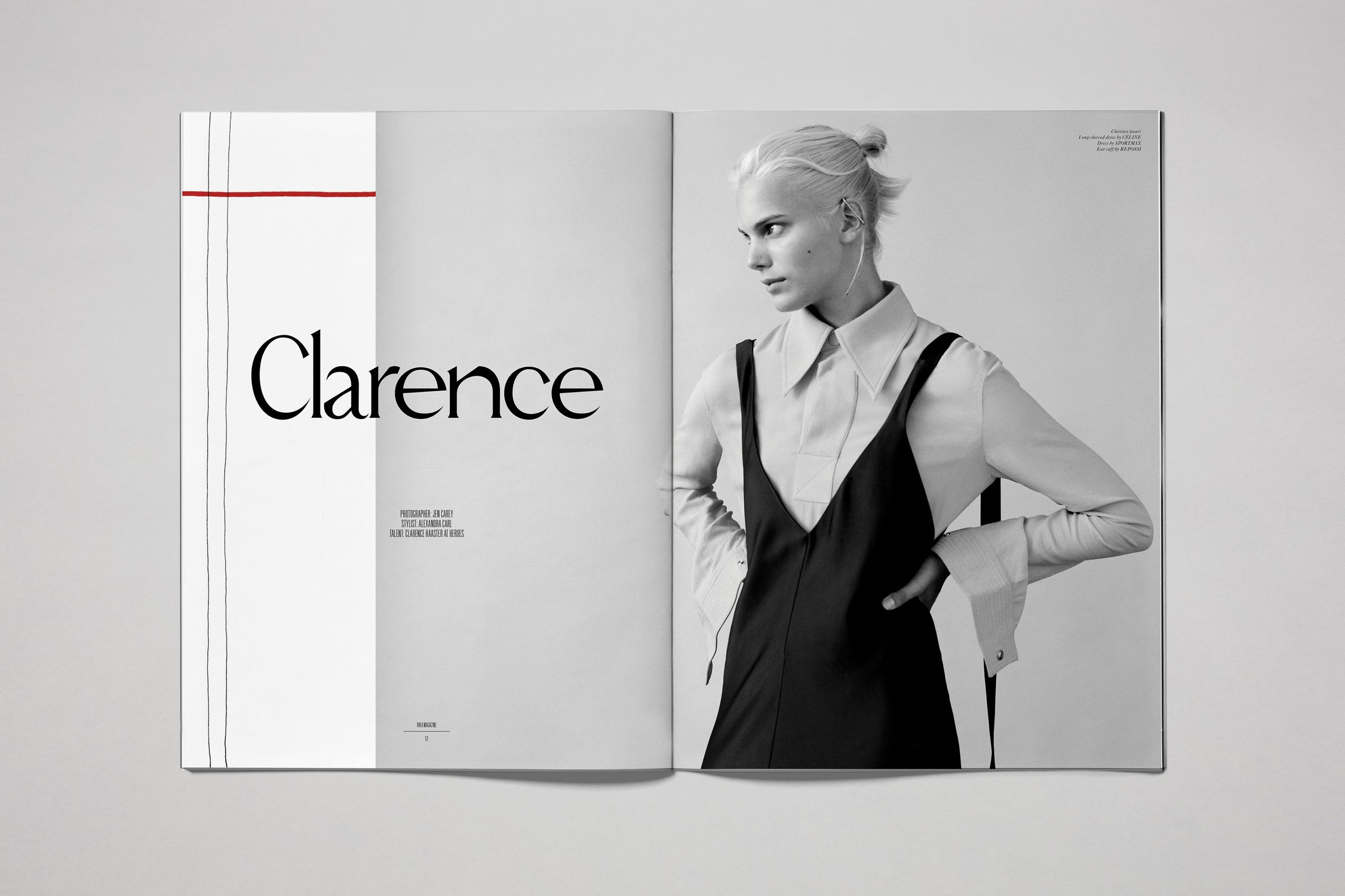 Rika Magazine issue no. 15 Clarence Haaster photographed by Jen Carey