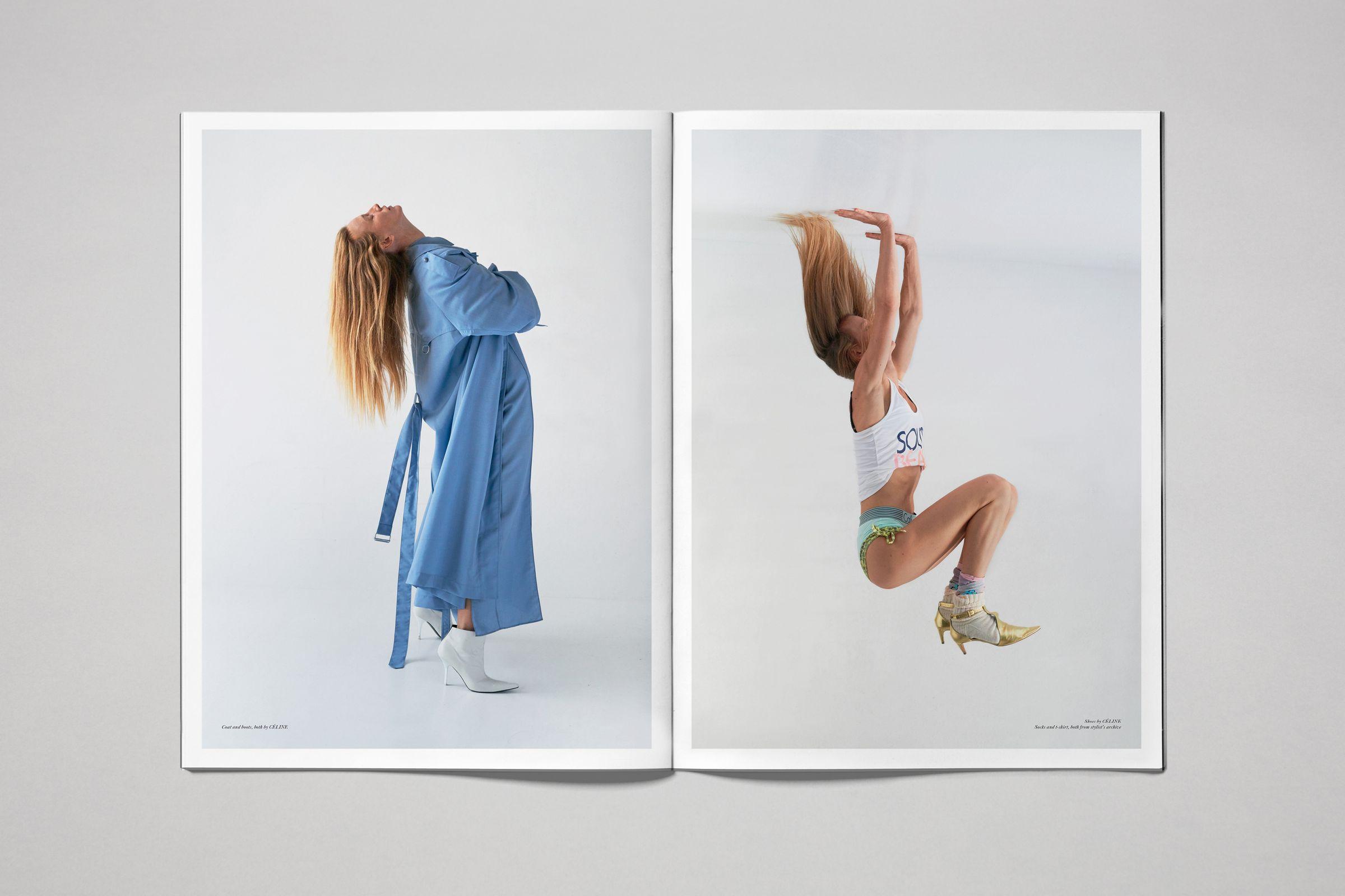 Rika Magazine issue no. 16 spread design