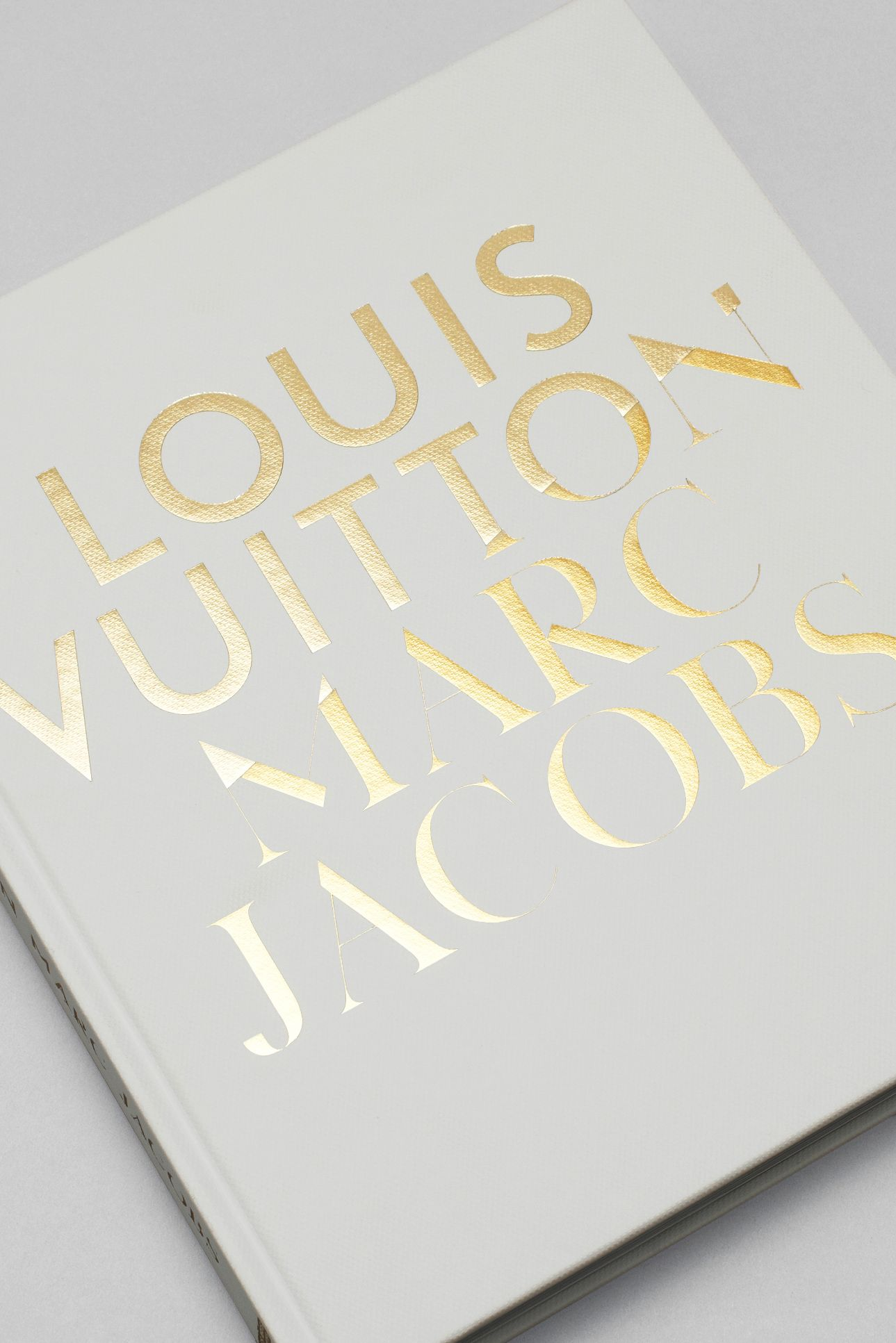 Louis Vuitton Marc Jacobs custom typography applied to cover