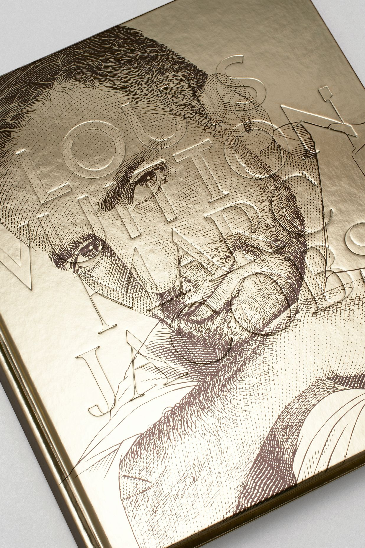 Cover of Louis Vuitton book showing illustration of Marc Jacobs