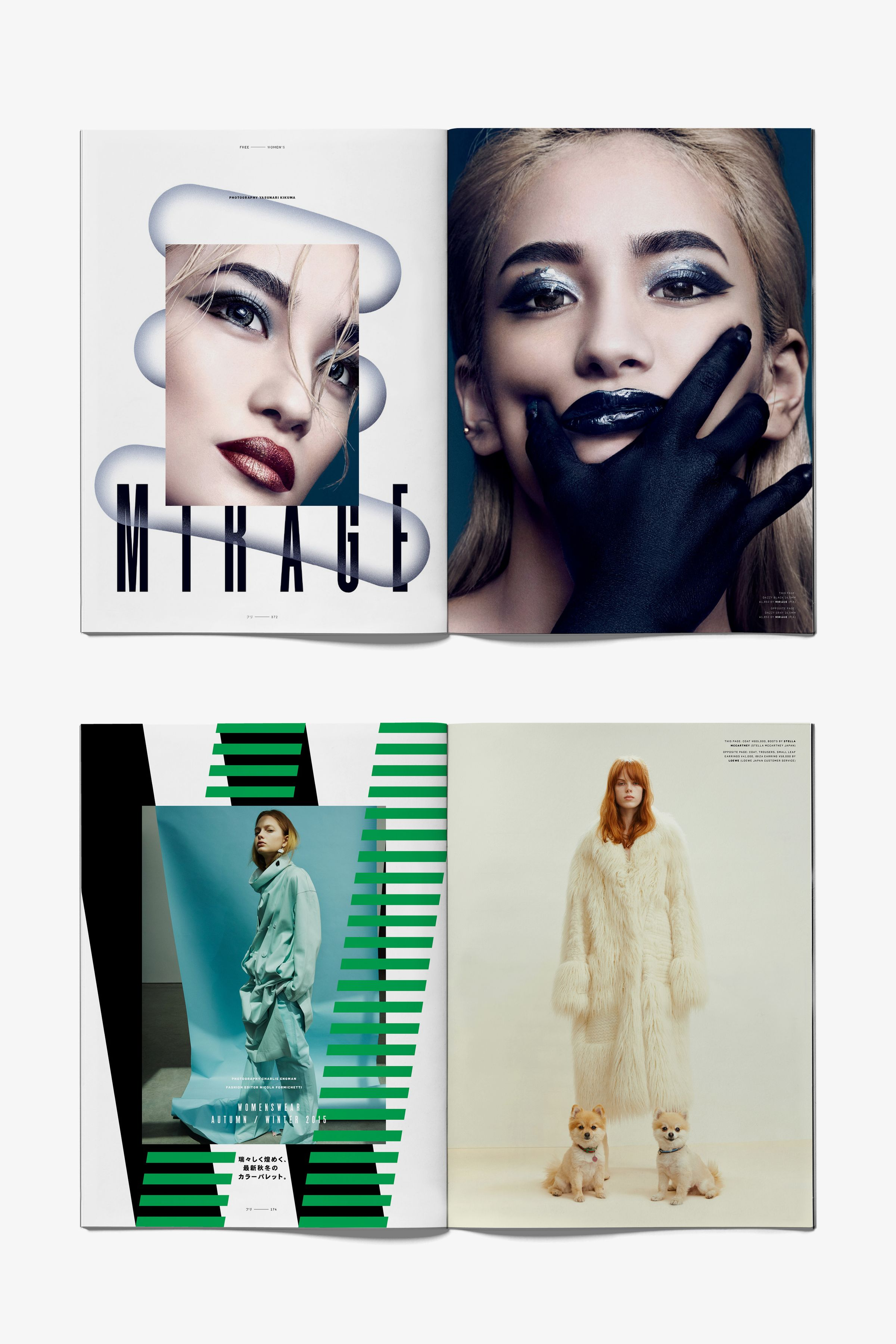 Free Magazine spread layout design