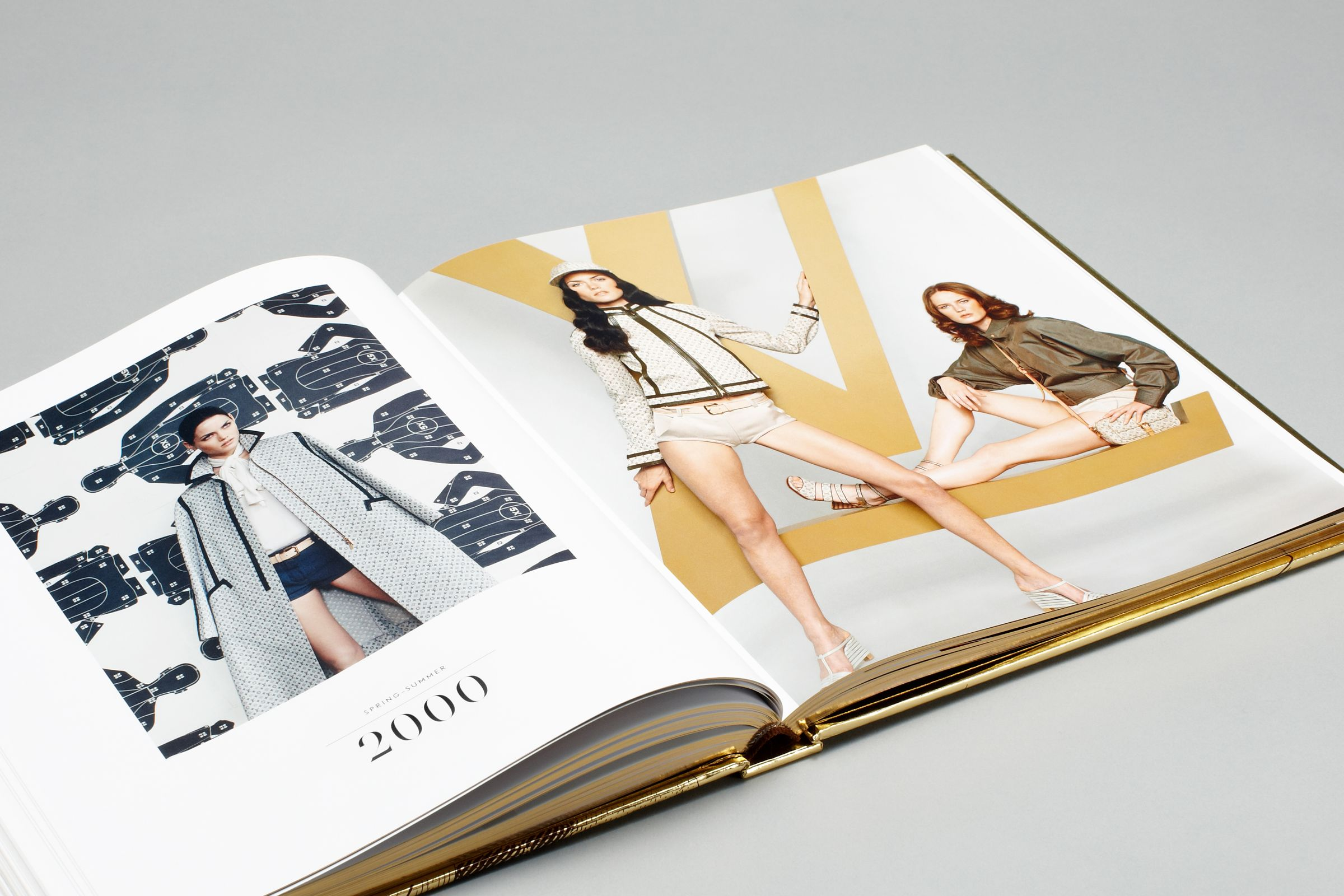Spread layout design from Louis Vuitton Marc Jacobs book