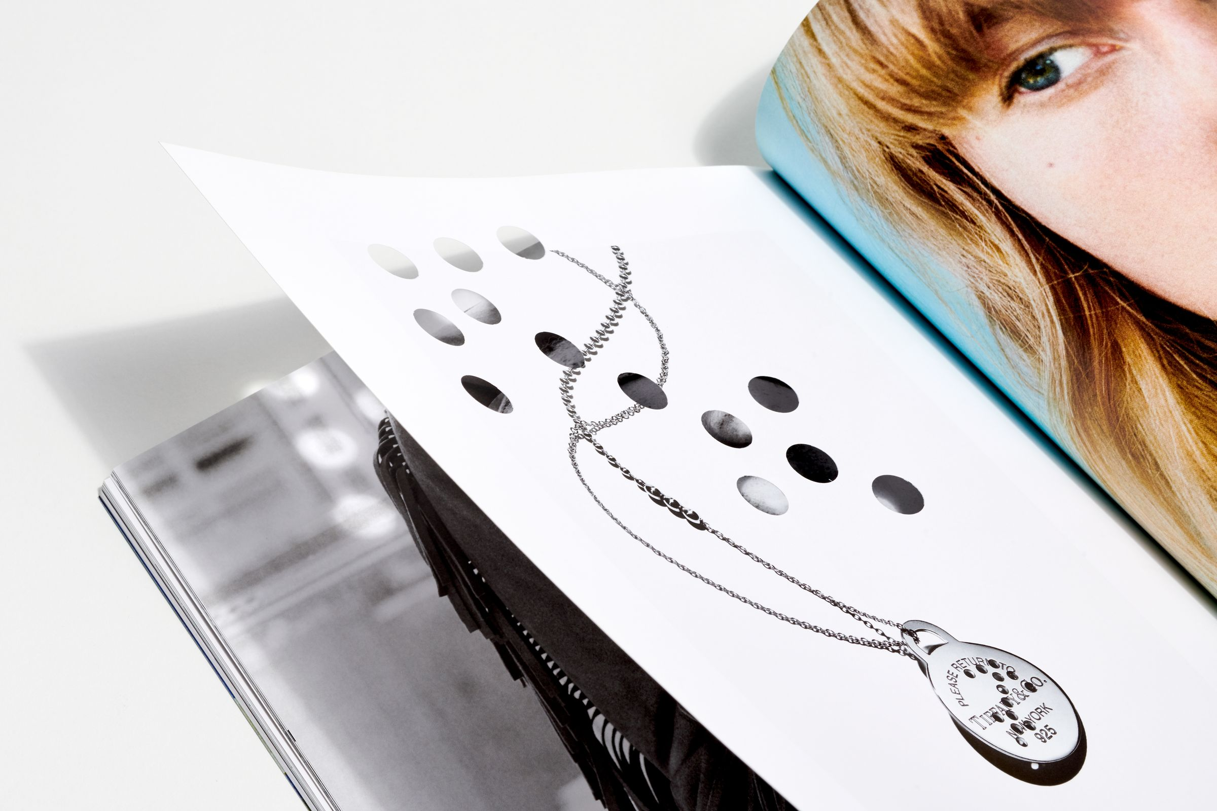 This is Tiffany magazine Issue 6 die-cut page detail