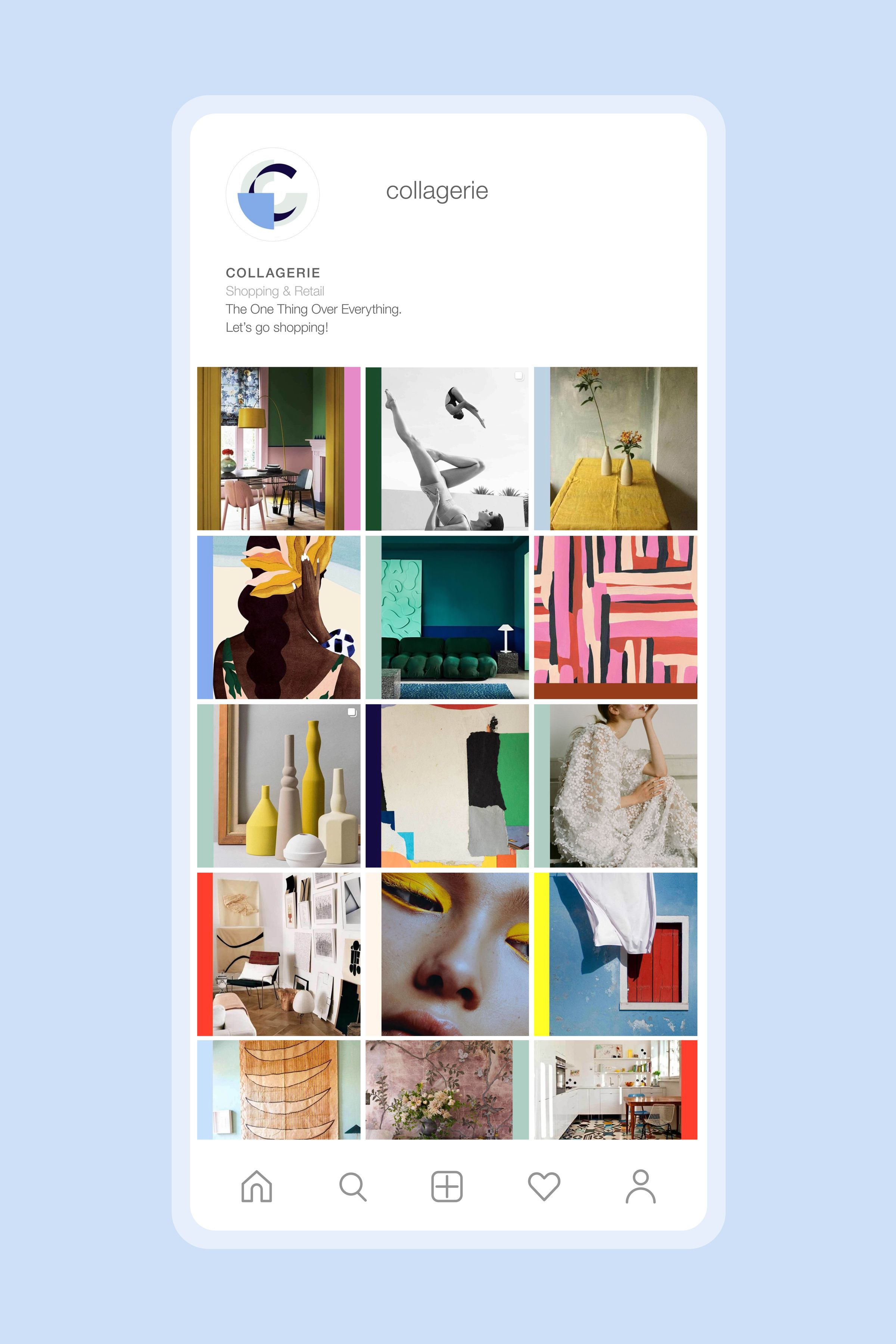 Collagerie instagram page