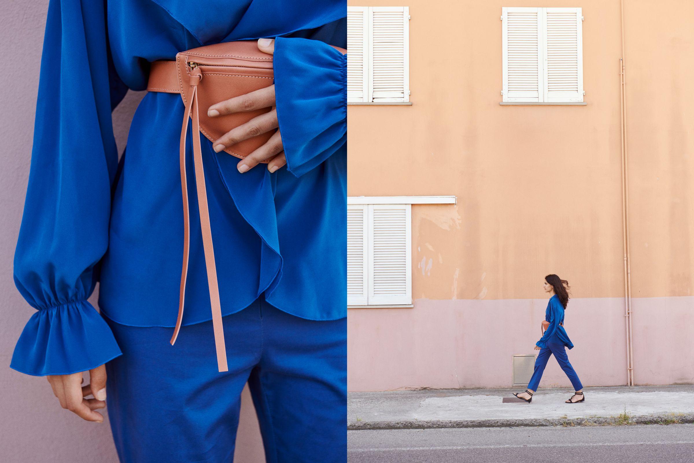 Yvonne Kone campaign art direction with waist bag