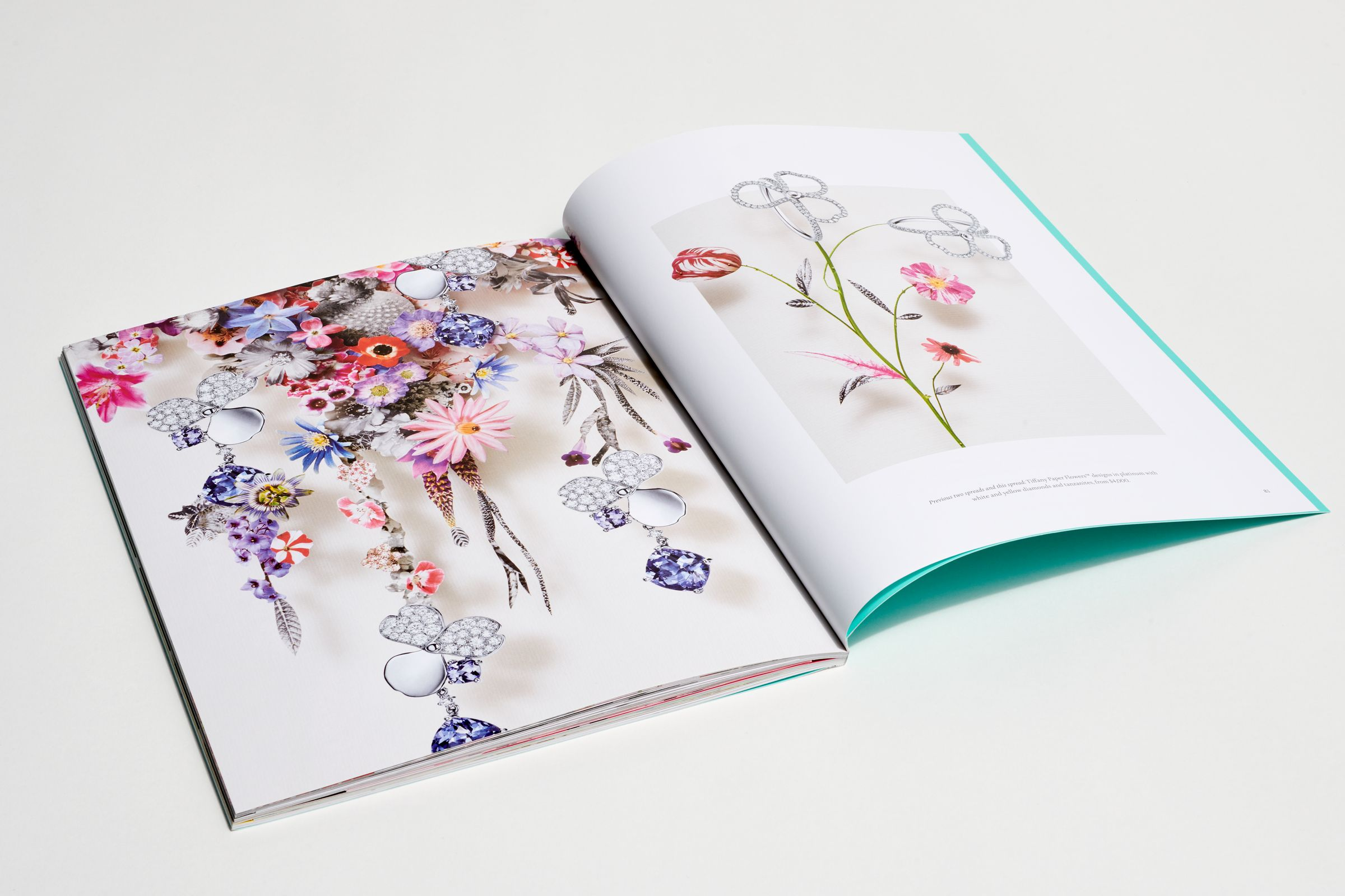 This is Tiffany magazine Issue 7 flower story spread layout design