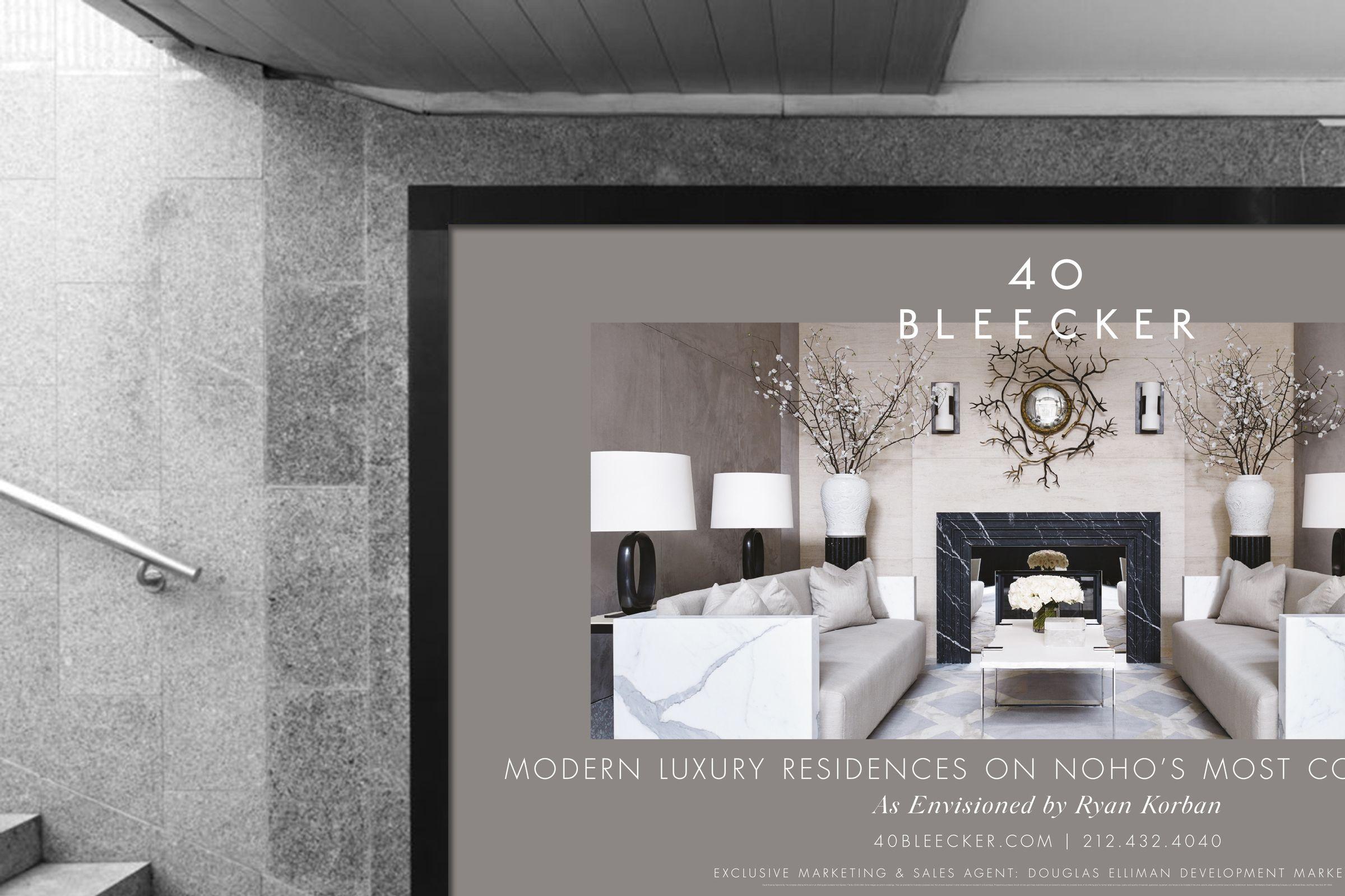 40 Bleecker billboard design