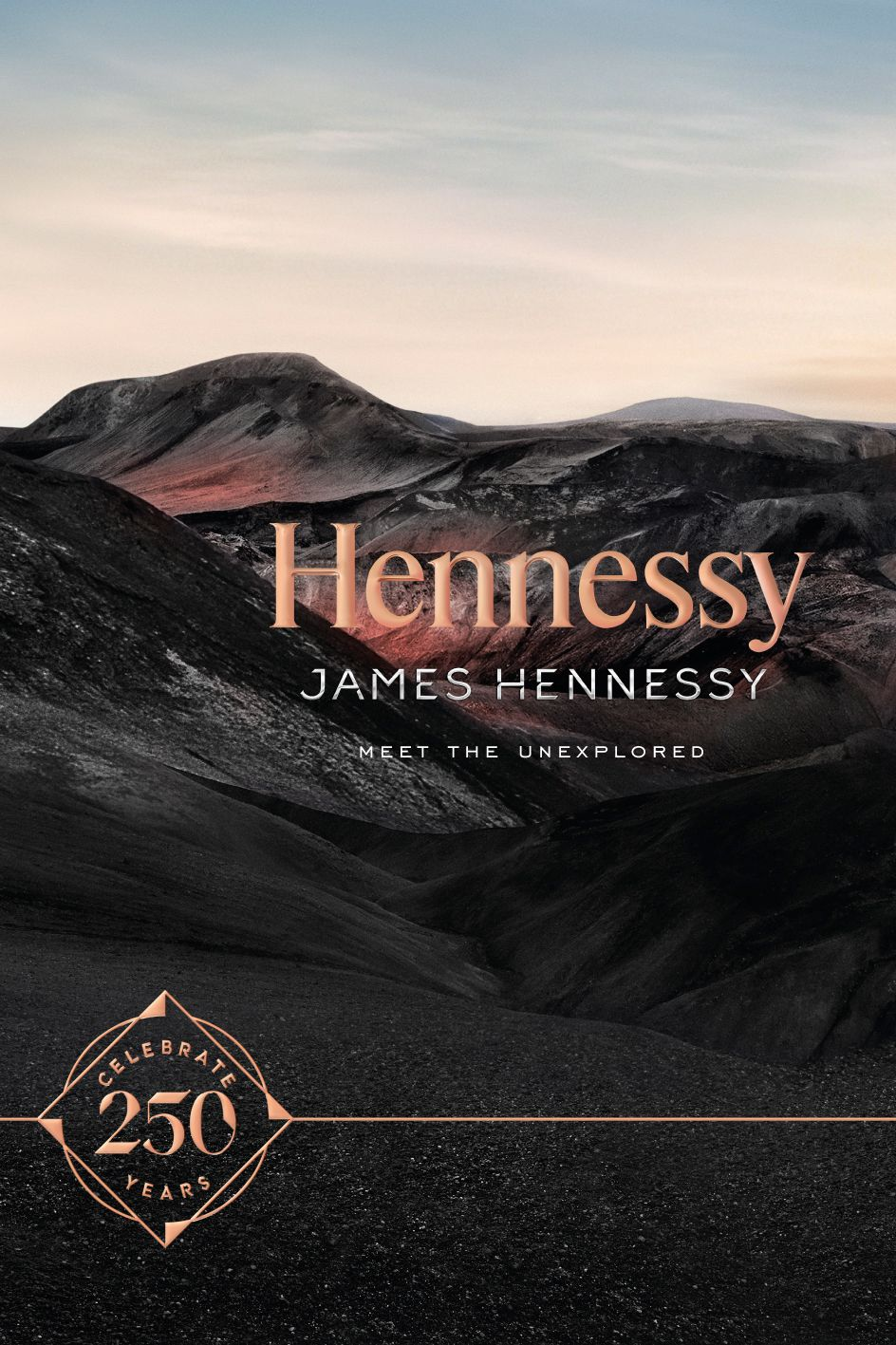 Hennessy 250th anniversary logo design