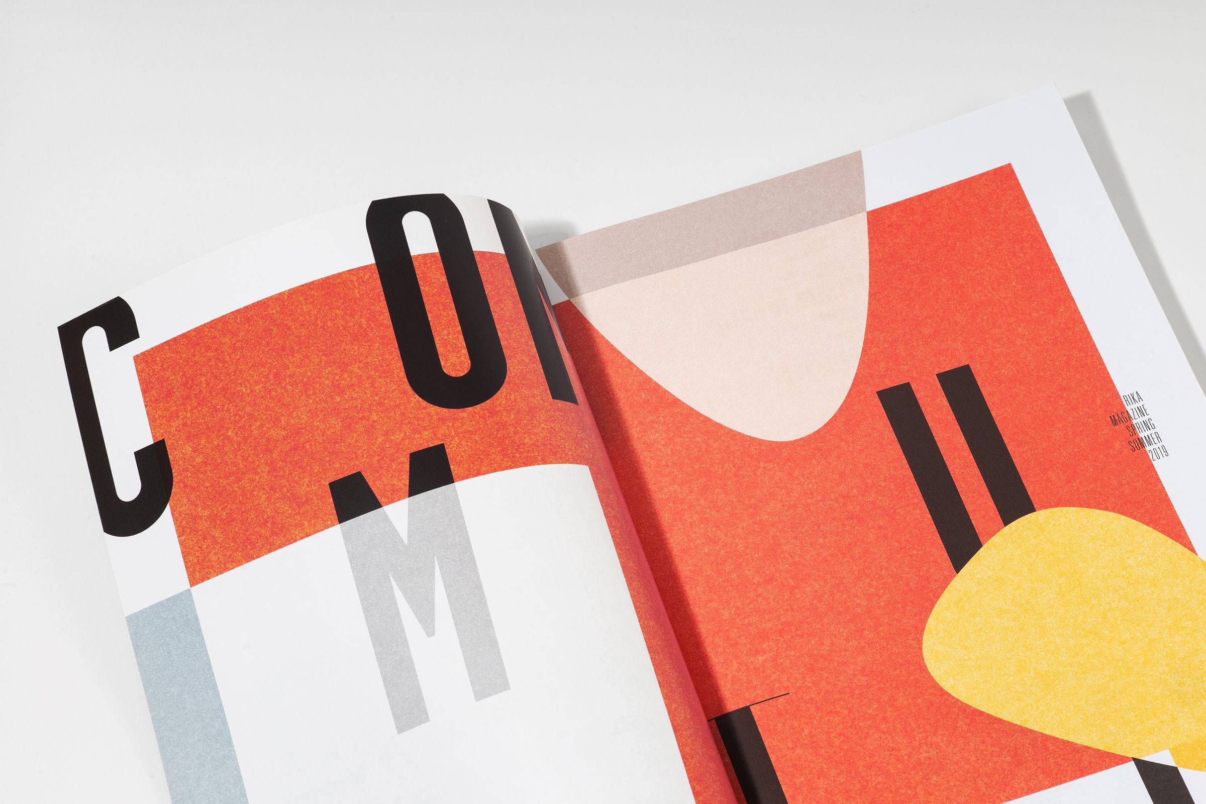 Rika Magazine issue no. 19 custom typography layout