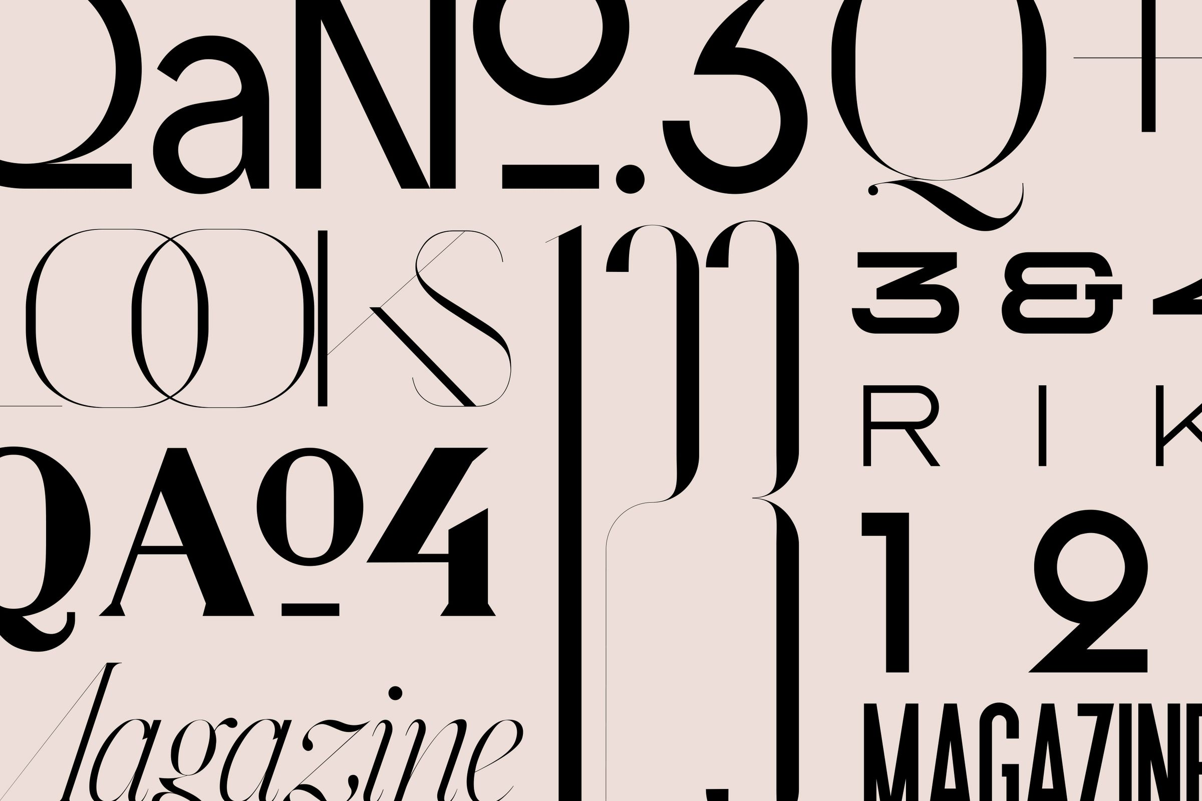 Rika Magazine typography