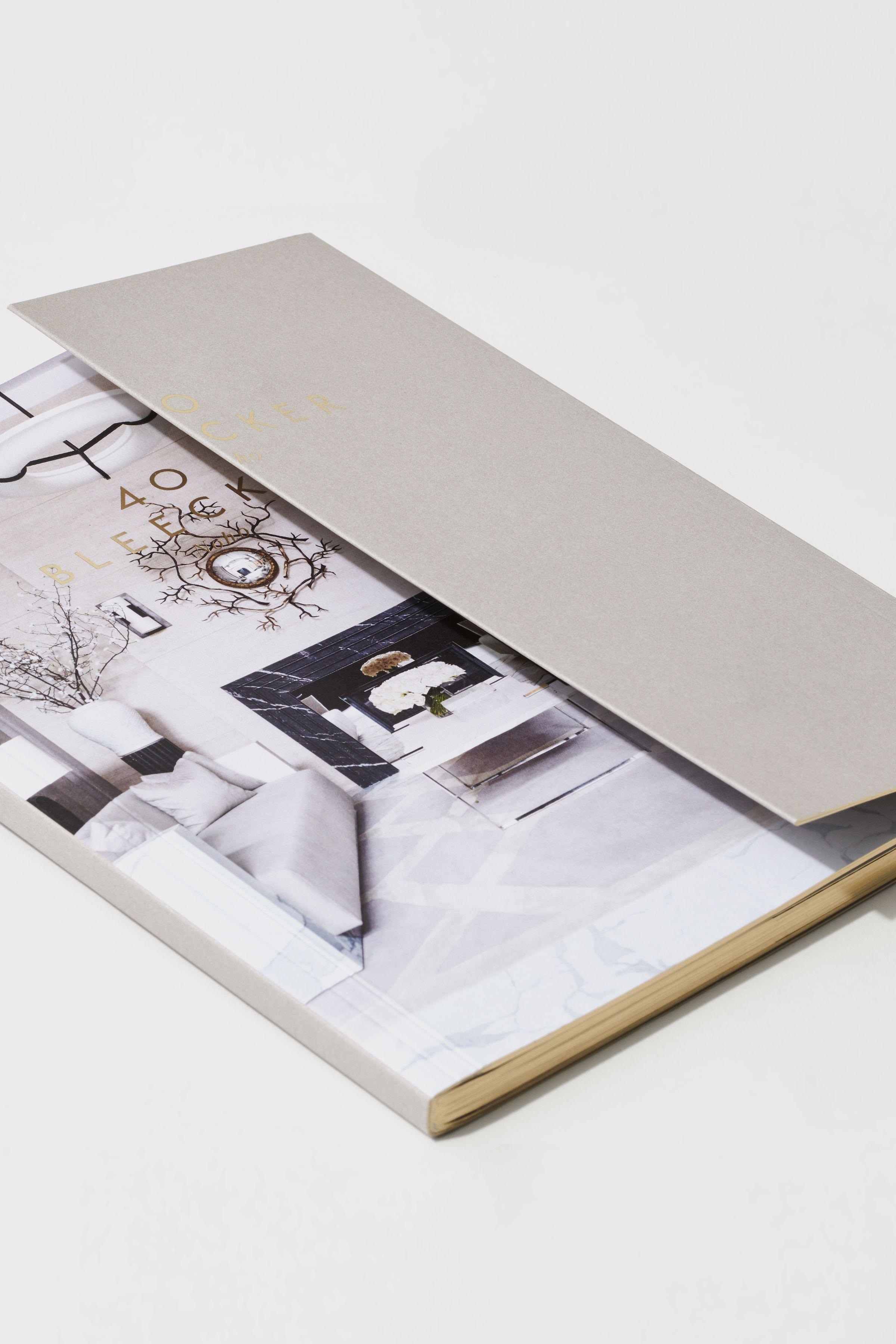 40 Bleecker marketing book design