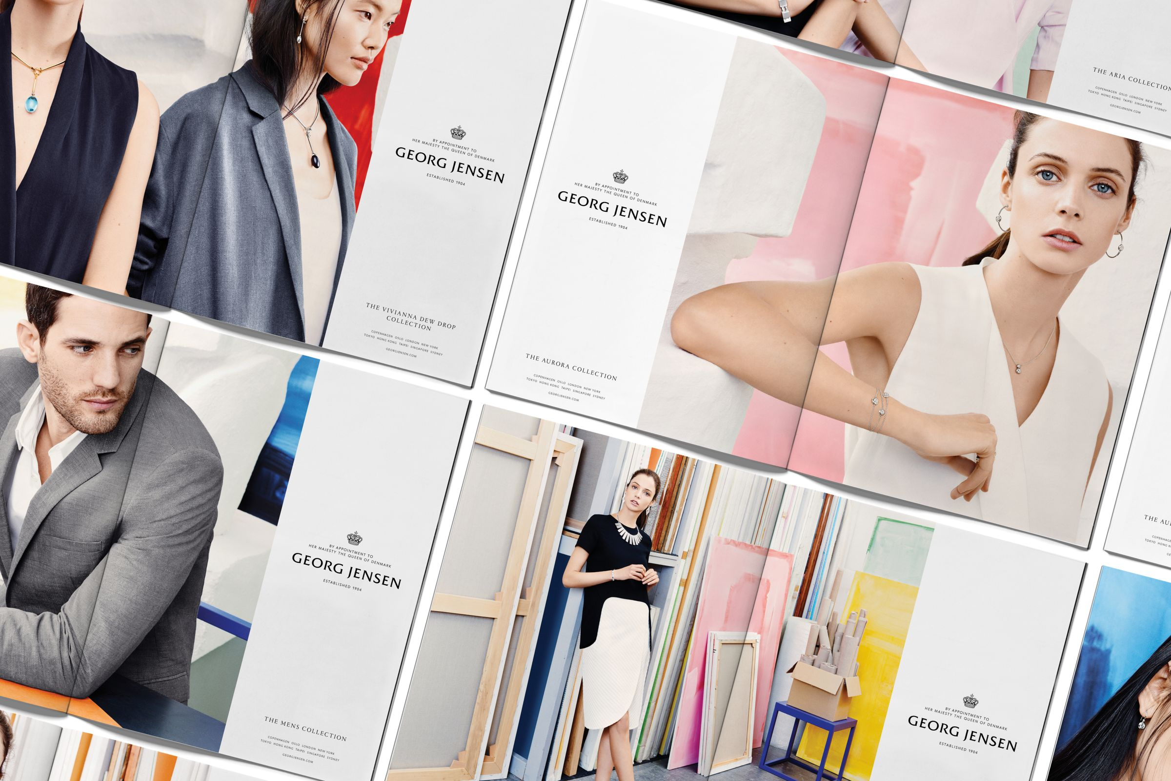 Georg Jensen campaign spreads photographed by Hasse Nielsen