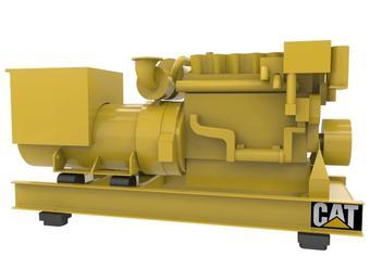 CAT C18 - Auxiliary genset - 565 eKW 1800 RPM