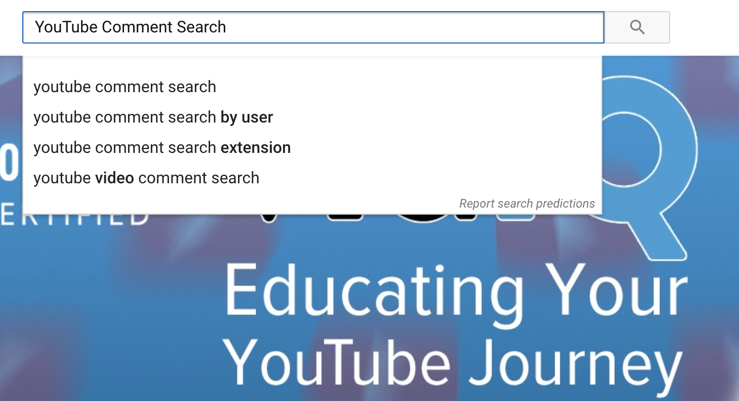 Introducing Youtube Comment Search