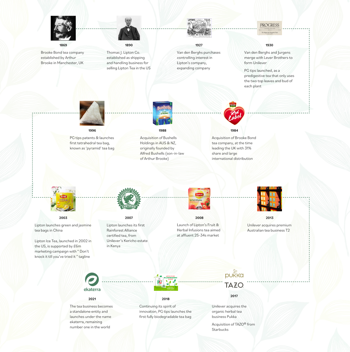 Story map of our mastery in tea