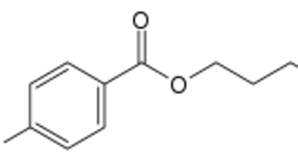Chemical structure of Butylparaben