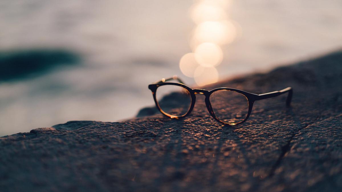 Glasses sitting outside
