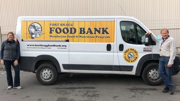 Thank you Redwood Empire Food Bank we love our new van!