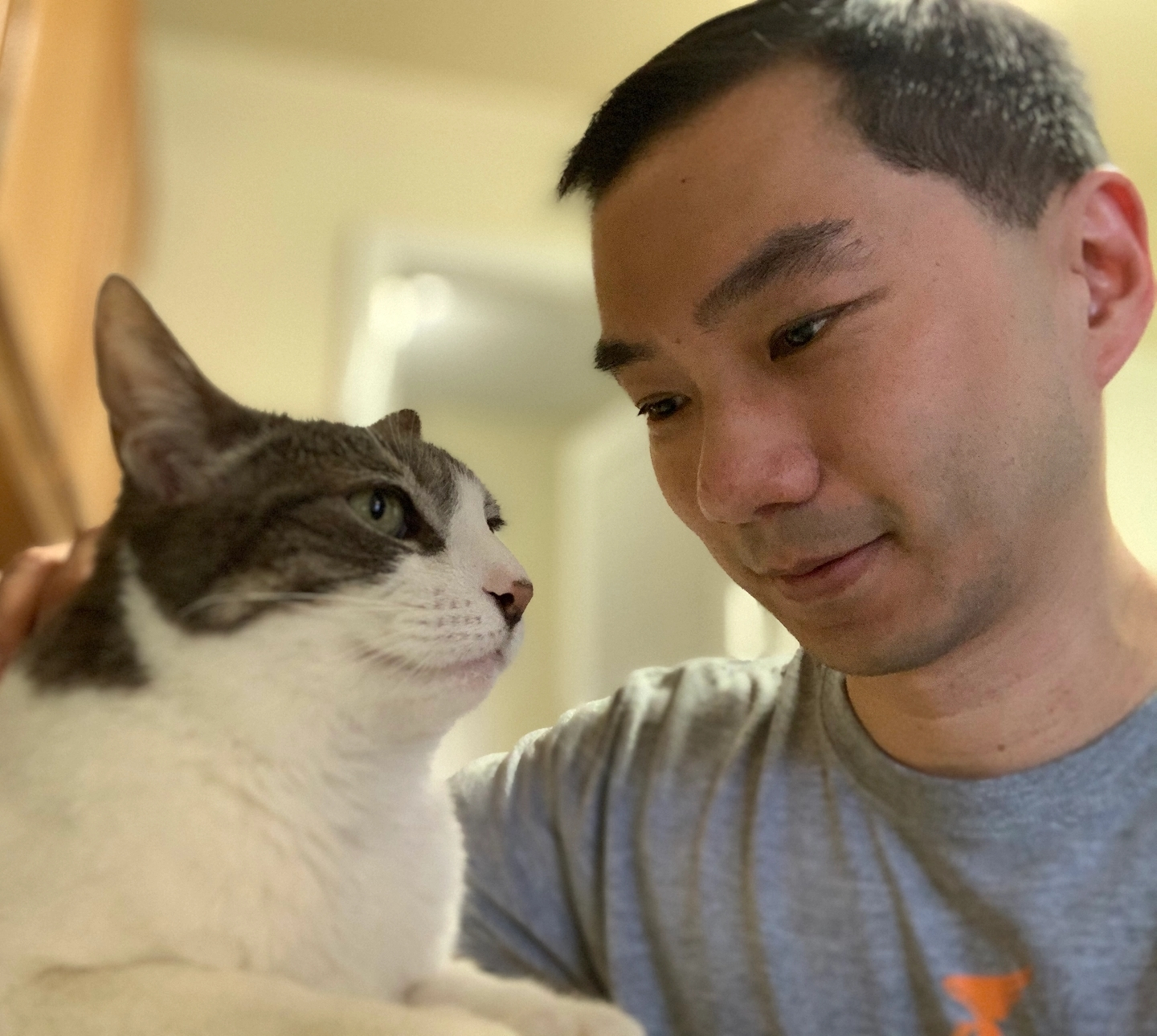 Cat named Pebbles and Cat Person Co-Founder Jimmy