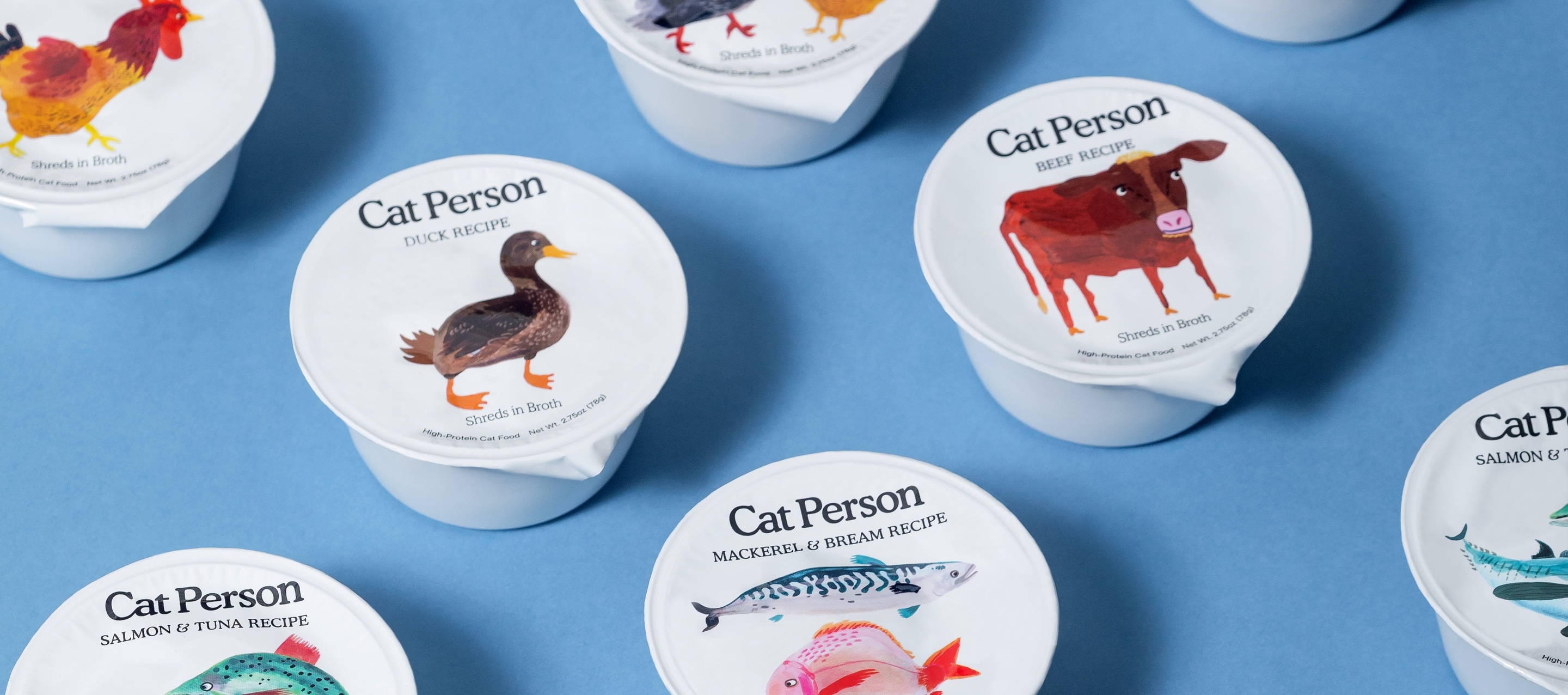 Cups of Cat Person wet cat food