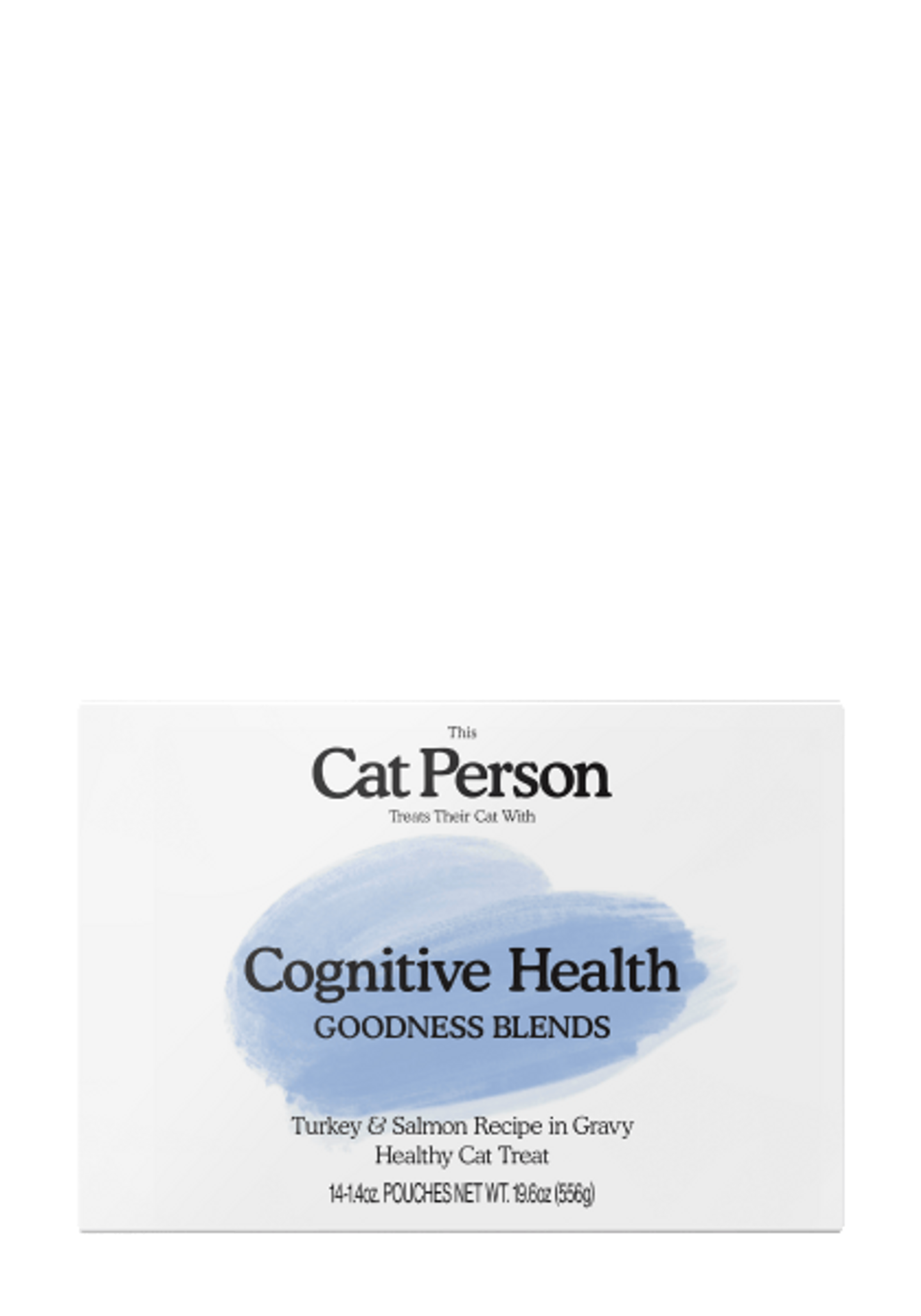 Box of Cat Person Cognitive Health Goodness Blends healthy cat treat