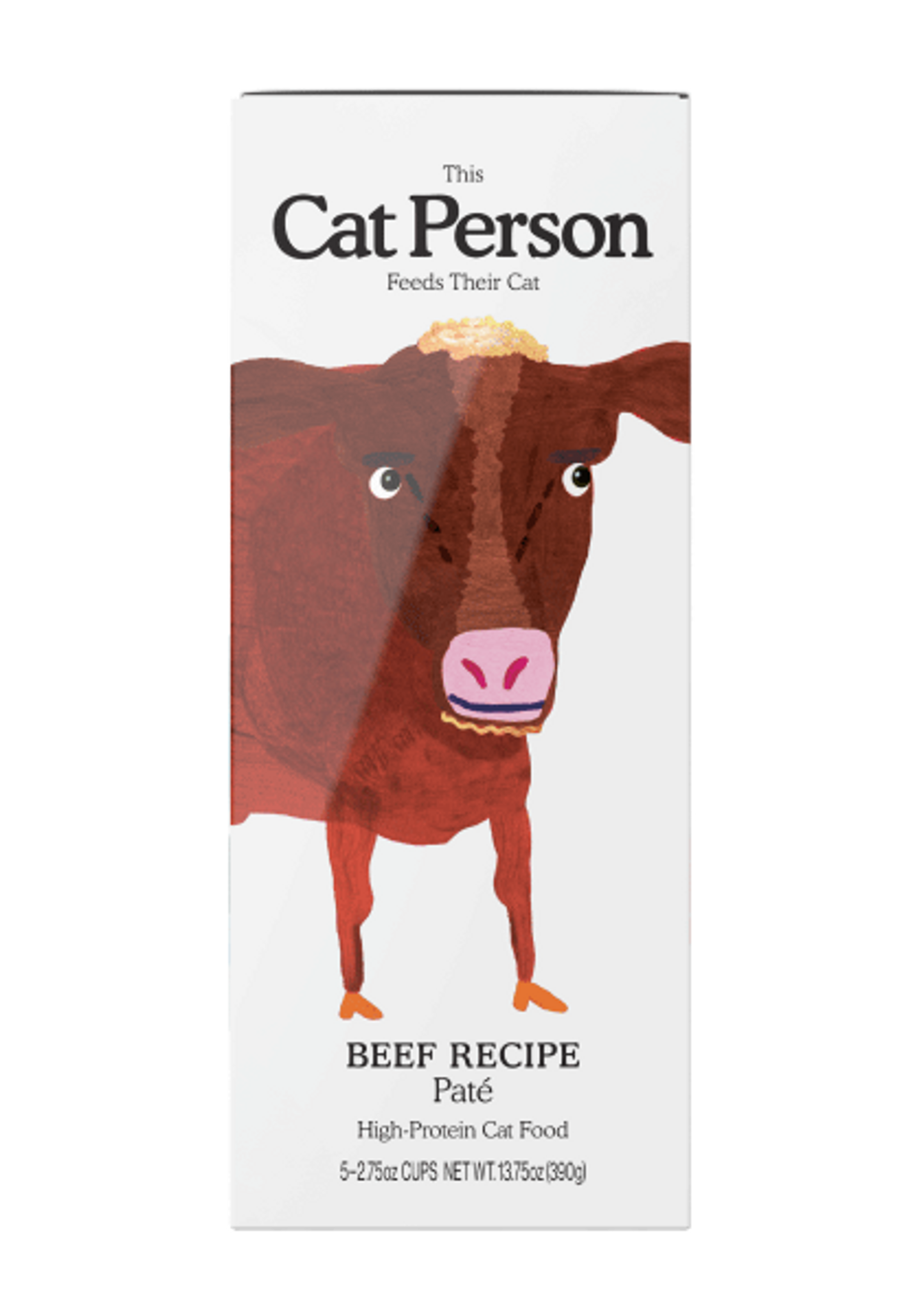 Sleeve of Cat Person beef paté wet food