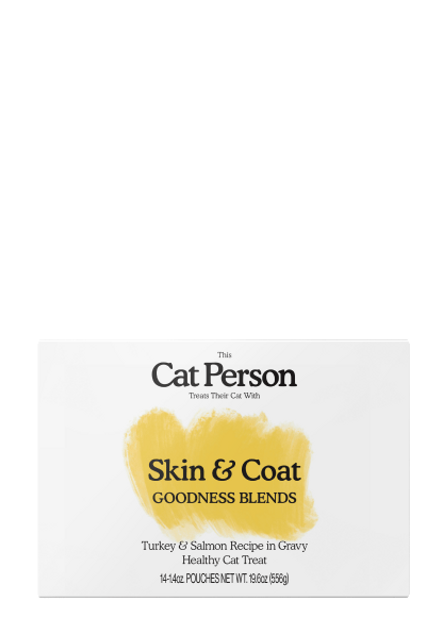 Box of Cat Person Skin & Coat Goodness Blends healthy cat treat