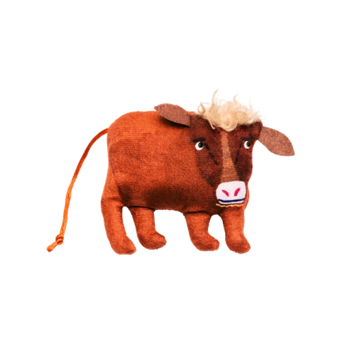 Cat Person cow catnip toy
