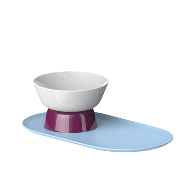 Cat Person mesa bowl in tundra colorway