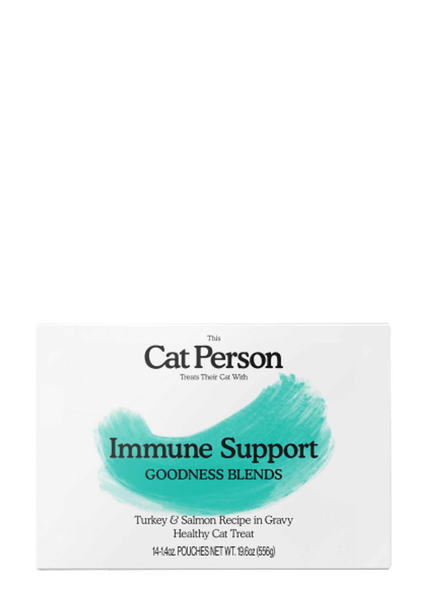 Box of Cat Person Immune Support Goodness Blends healthy cat treat