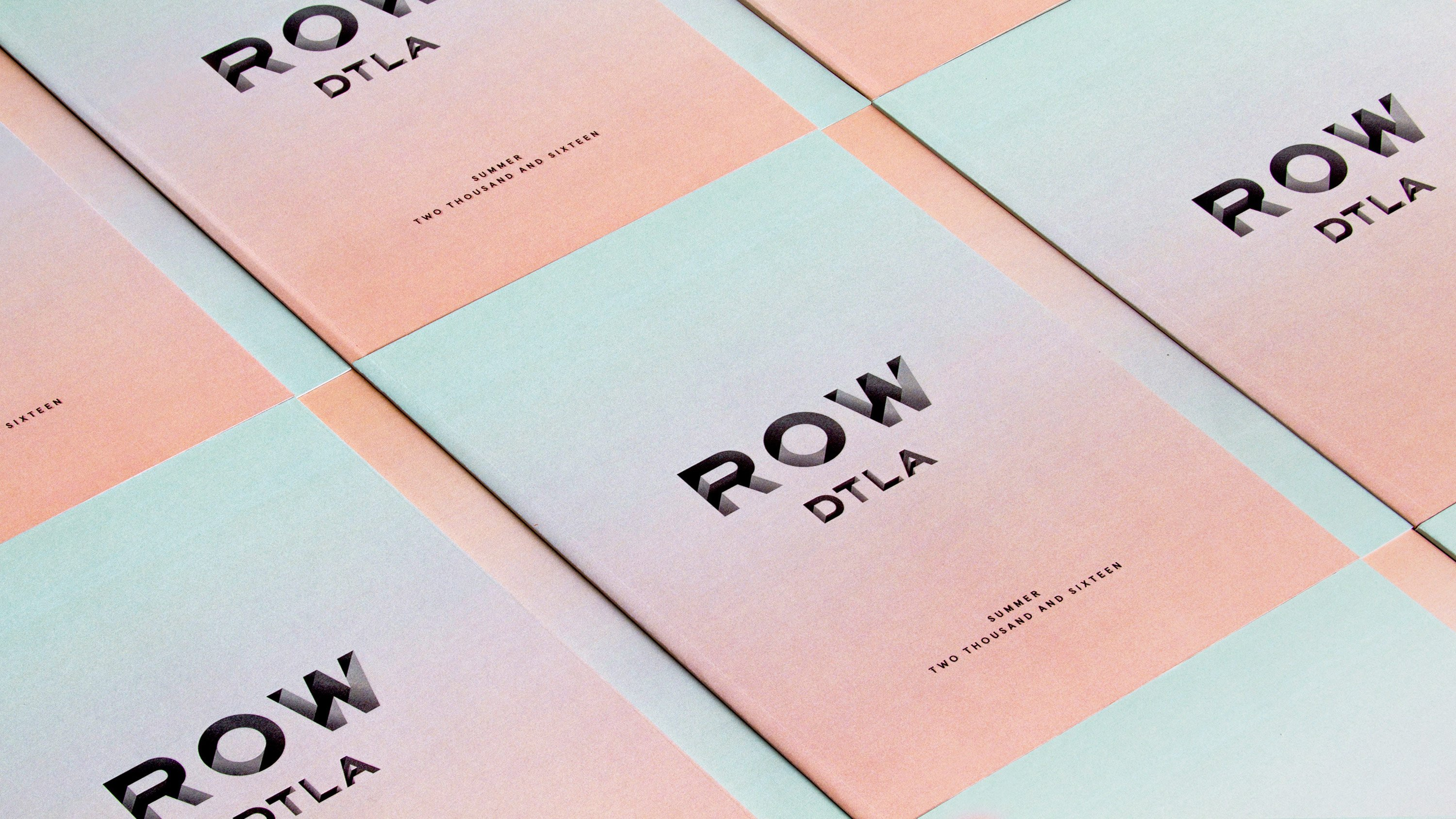 Row DTLA Brand book, branding and print design by RoAndCo