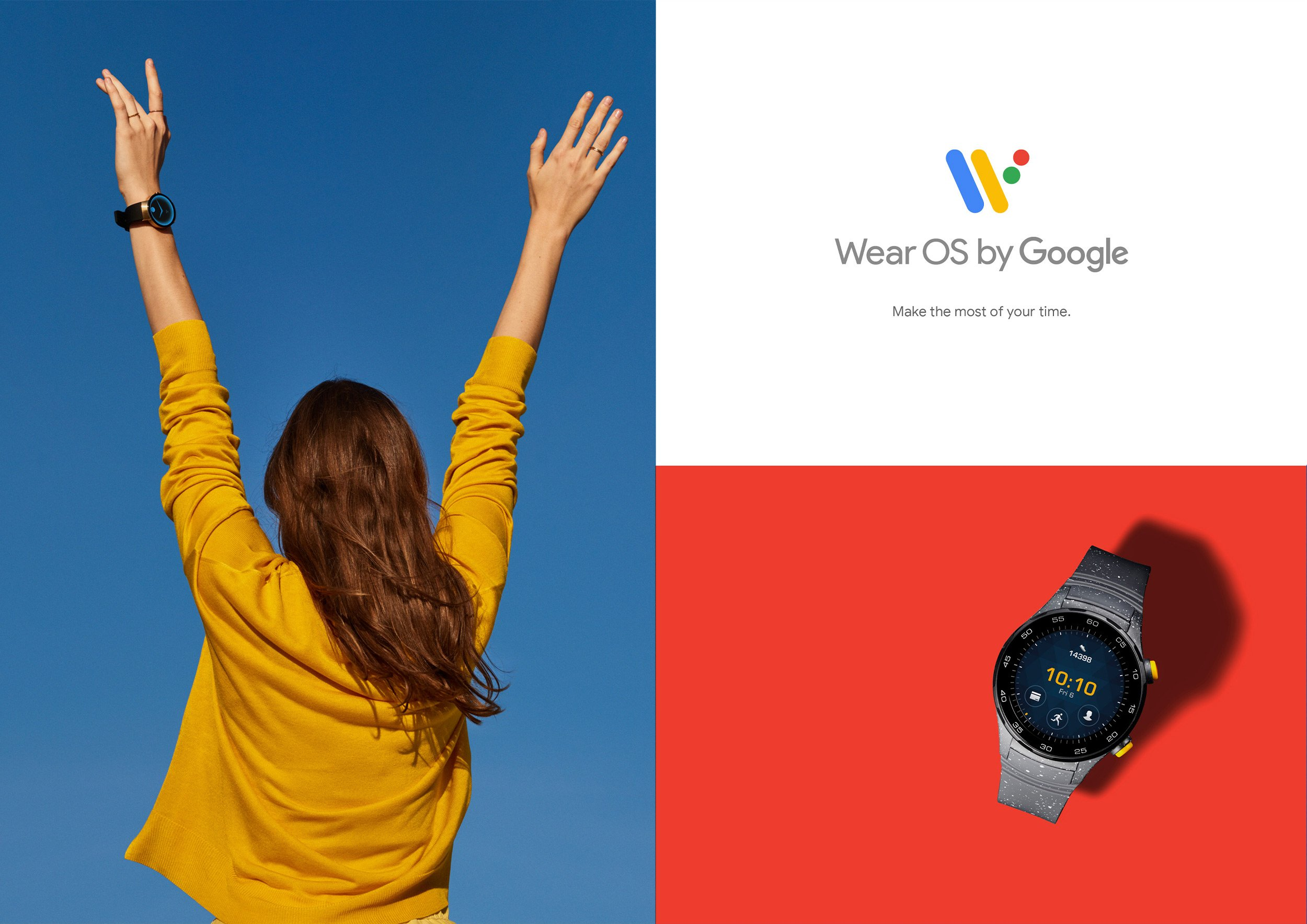 Wear OS by Google Campaign ad, make the most of your time. Design by RoAndCo