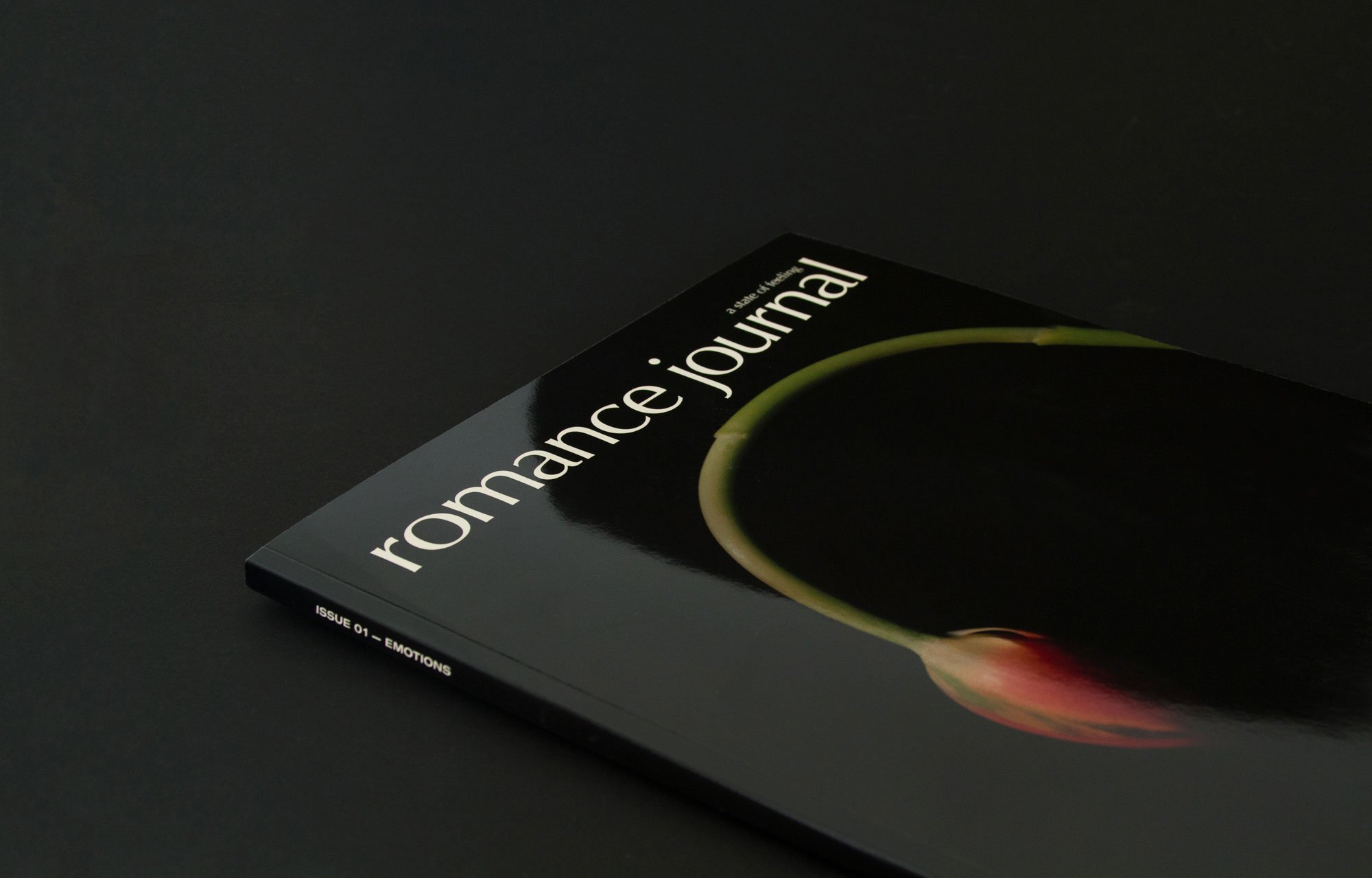 Romance Journal Issue 01 Cover –tulip bud. Publication design, art direction, print design, interviews by RoAndCo.