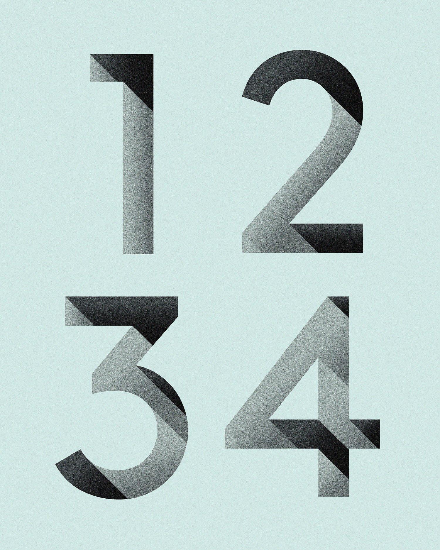 Row DTLA custom numbers detail, branding and print design by RoAndCo