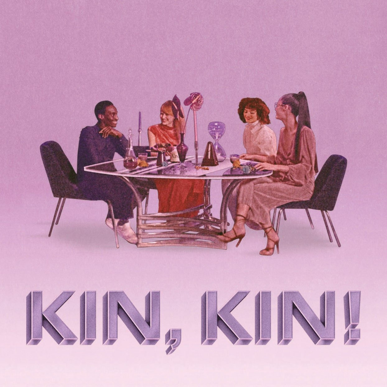 Kin Euphorics Campaign ad, illustrations by Robert Beatty. Campaign Art Direction Branding by RoAndCo