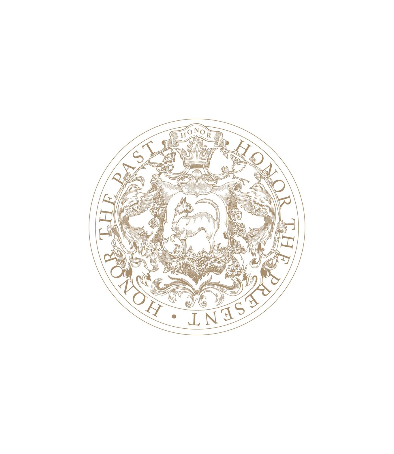 Honor Brand seal, reads: Honor the Past. Honor the Present. Design by RoAndCo Studio