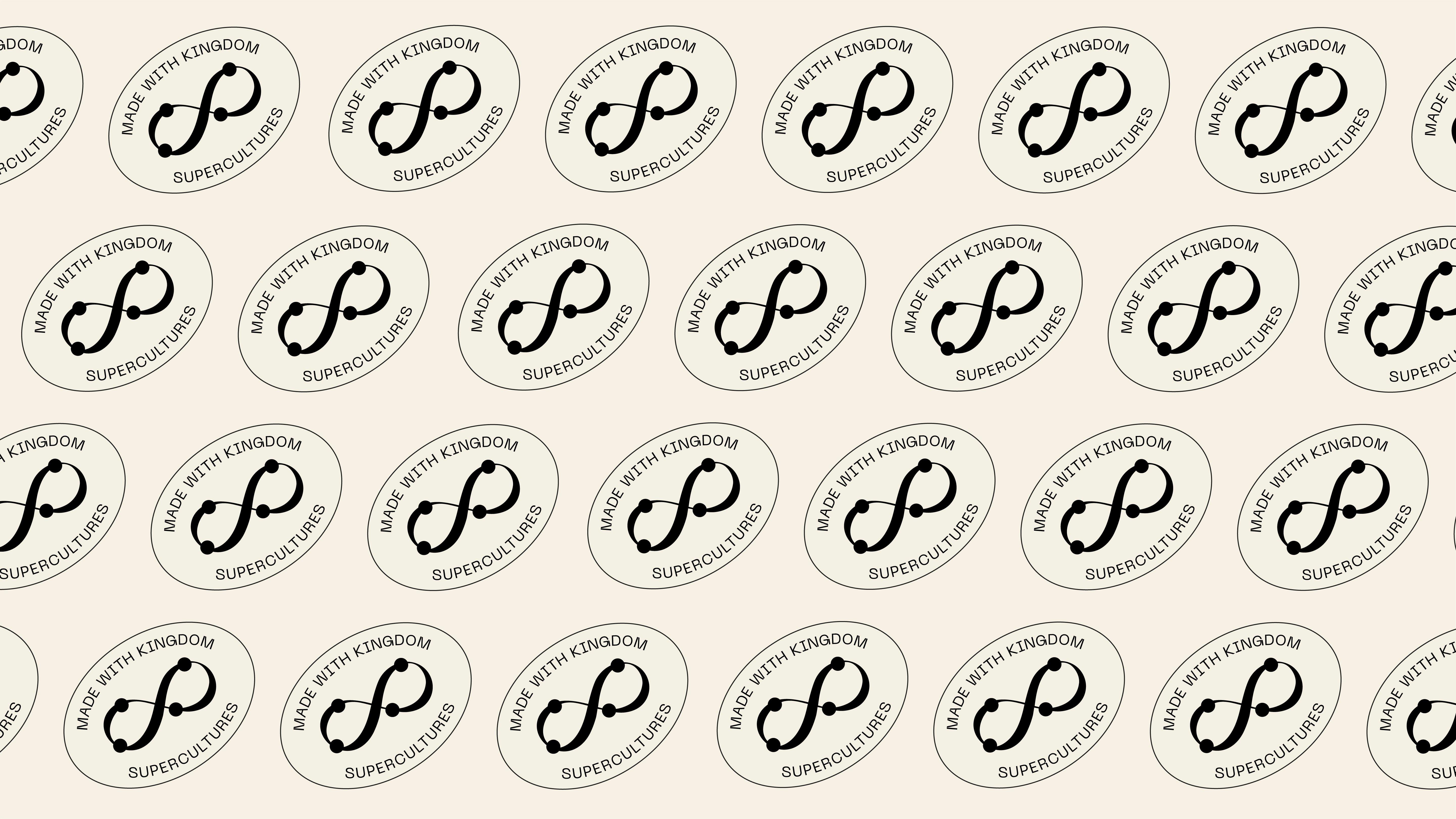 Kingdom Supercultures custom secondary mark pattern, design by RoAndCo