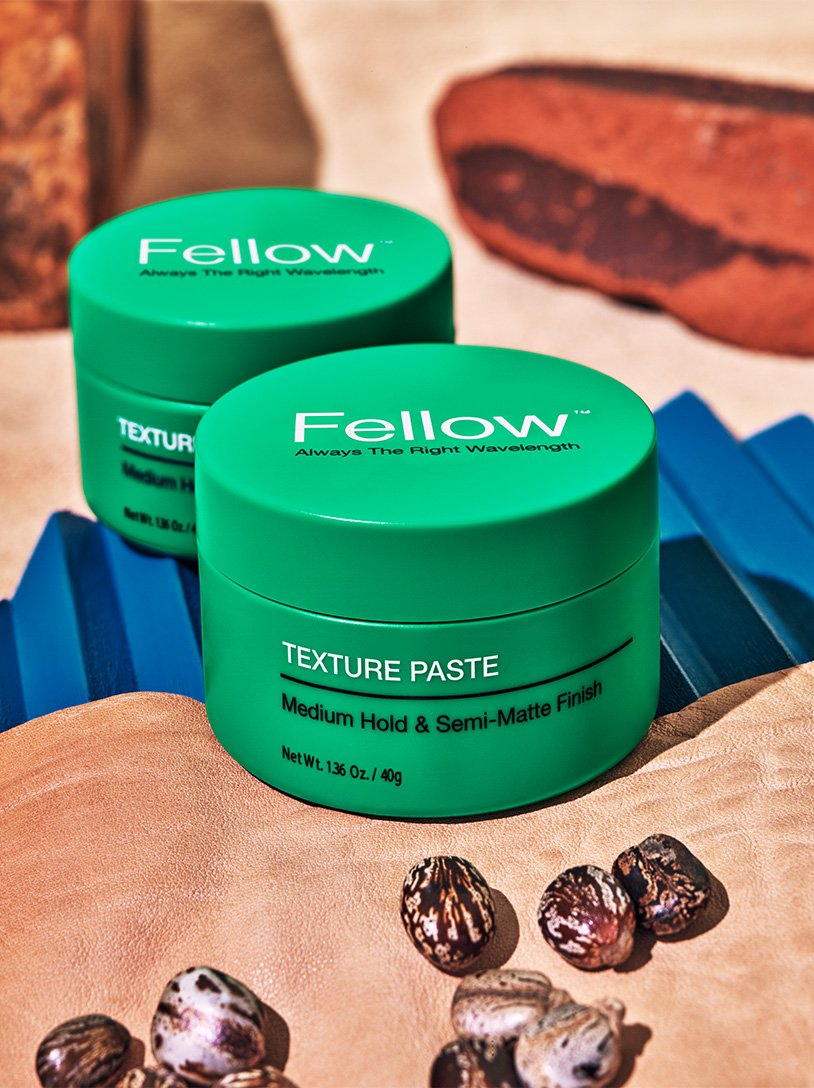 Fellow Texture Paste product shot by Grant Cornett, packaging design by RoAndCo Studio