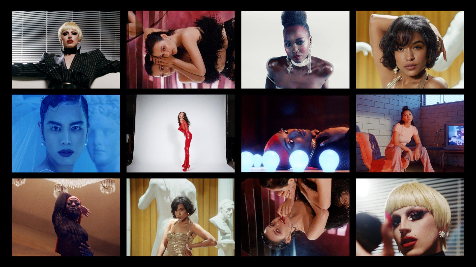 Stills from Mac Viva Glam 25th anniversary campaign, concept and design by RoAndCo Studio