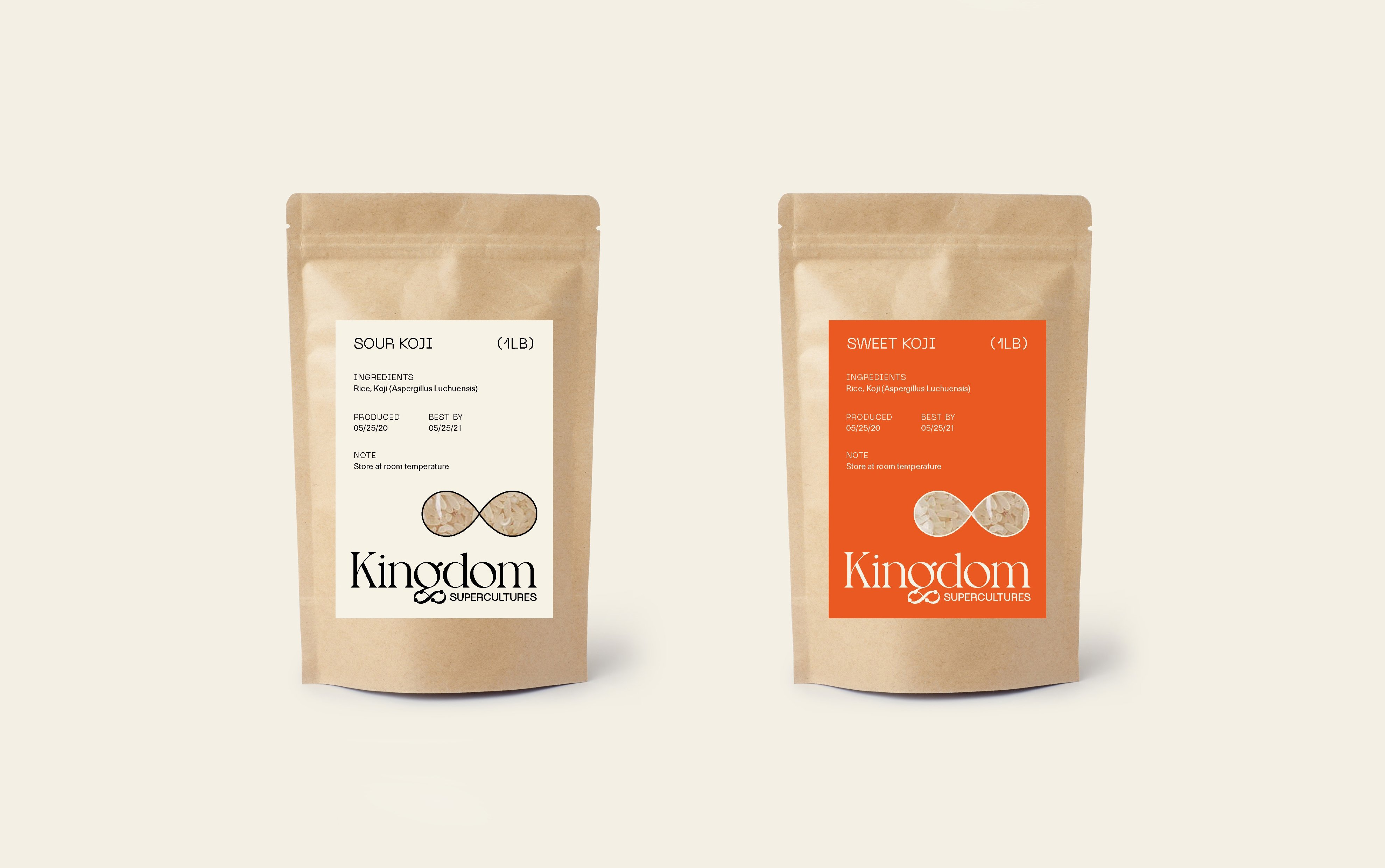 Kingdom Supercultures packaging, designed by RoAndCo Studio