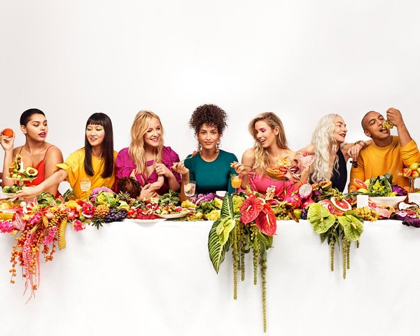No sacrifices. Sakara last supper table-scape, campaign Art direction by RoAndCo