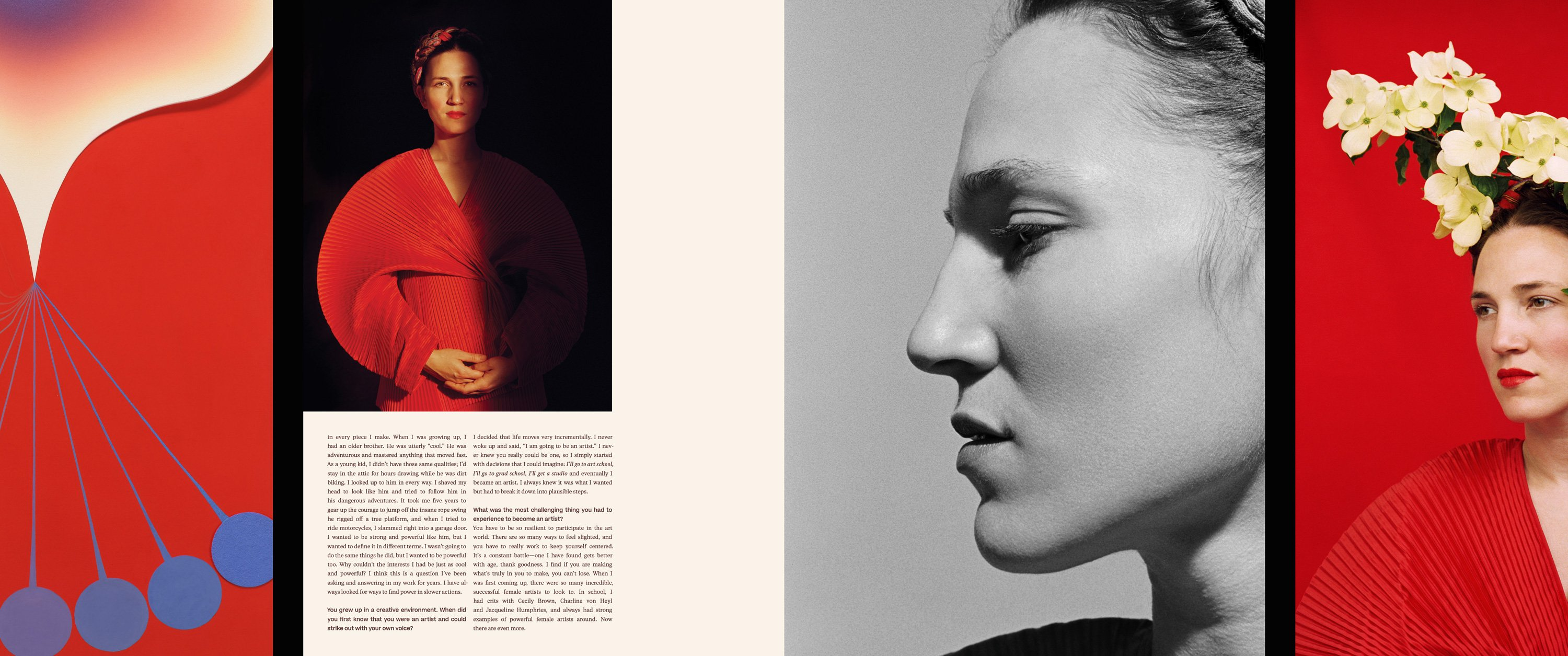 Romance Journal Issue 03 interior spread of Francesca DiMattio. Romance Journal issue 03 cover – Creation. Publication design, art direction, print design, interviews by RoAndCo
