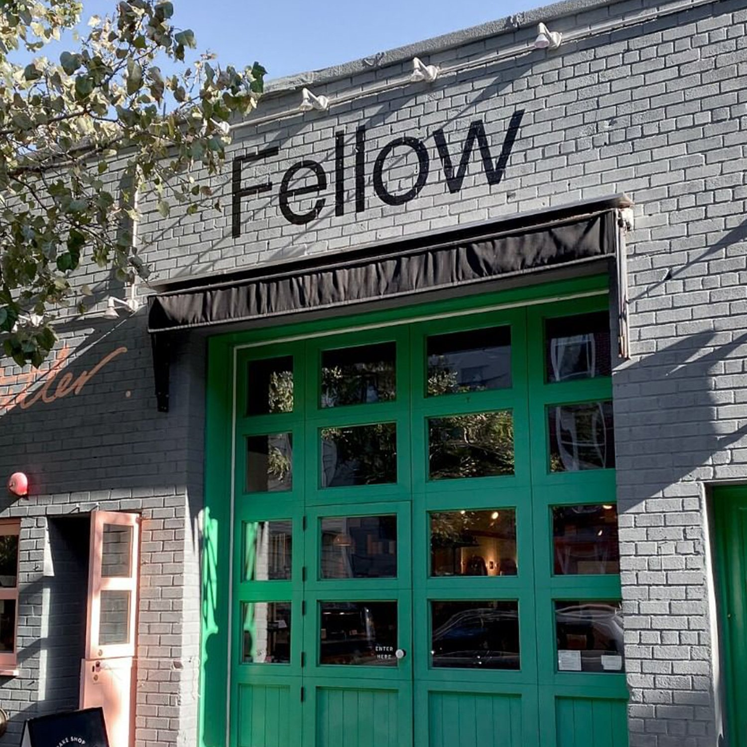 Fellow Storefront in Willamsburg, Brooklyn, branding by RoAndCo