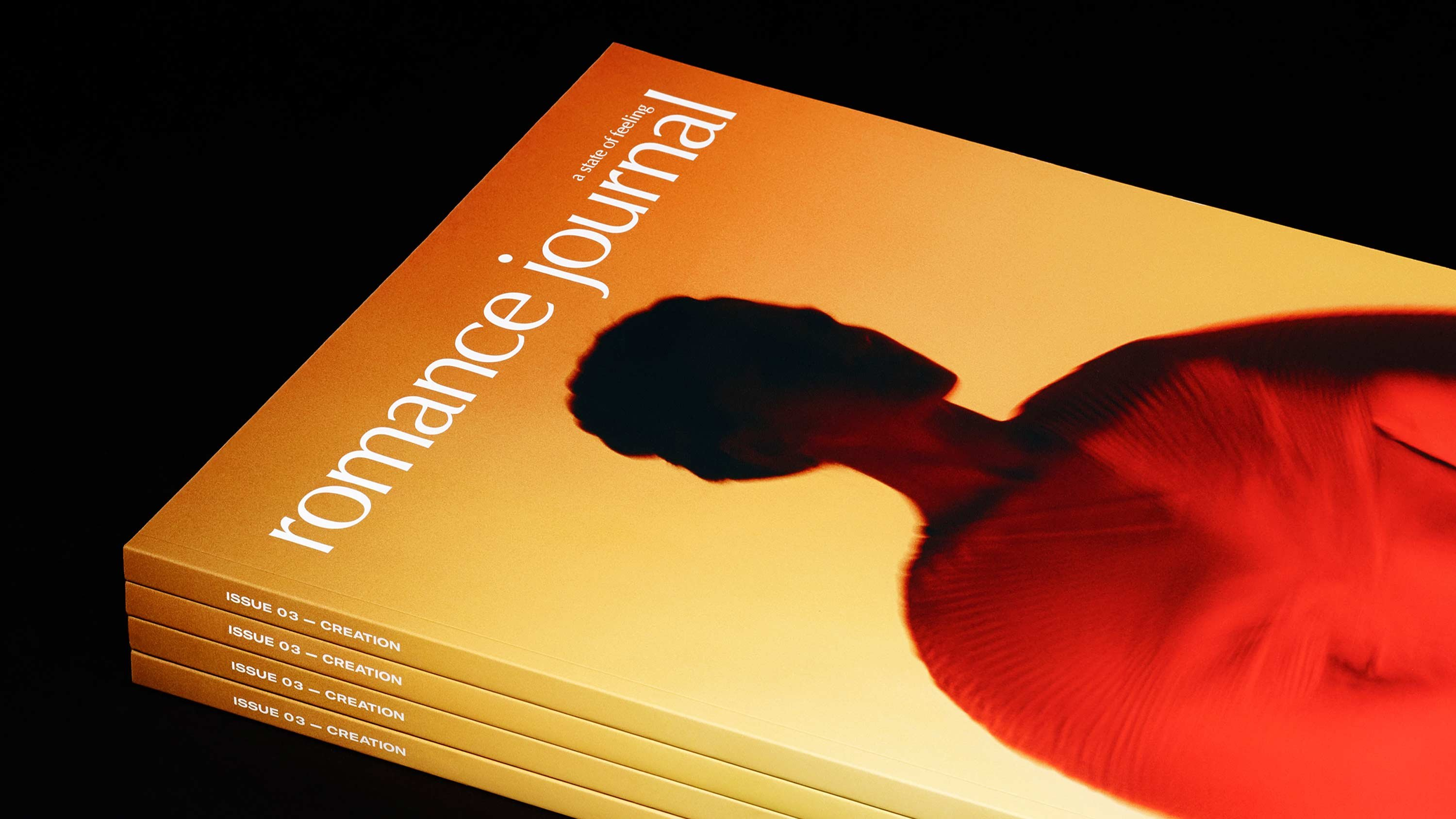 Romance Journal issue 03 cover – Creation. Publication design, art direction, print design by RoAndCo