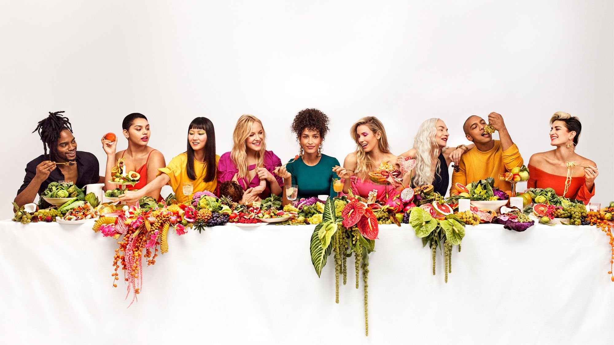 No sacrifices. Sakara last supper table-scape. Campaign Art direction by RoAndCo