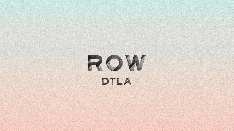 Row DTLA gradient logo, branding by RoAndCo
