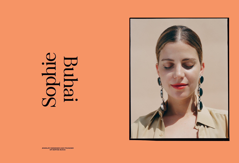 Sophie Buhai portrait for Romance Journal Issue 01. Publication design, art direction, print design, interviews by RoAndCo.