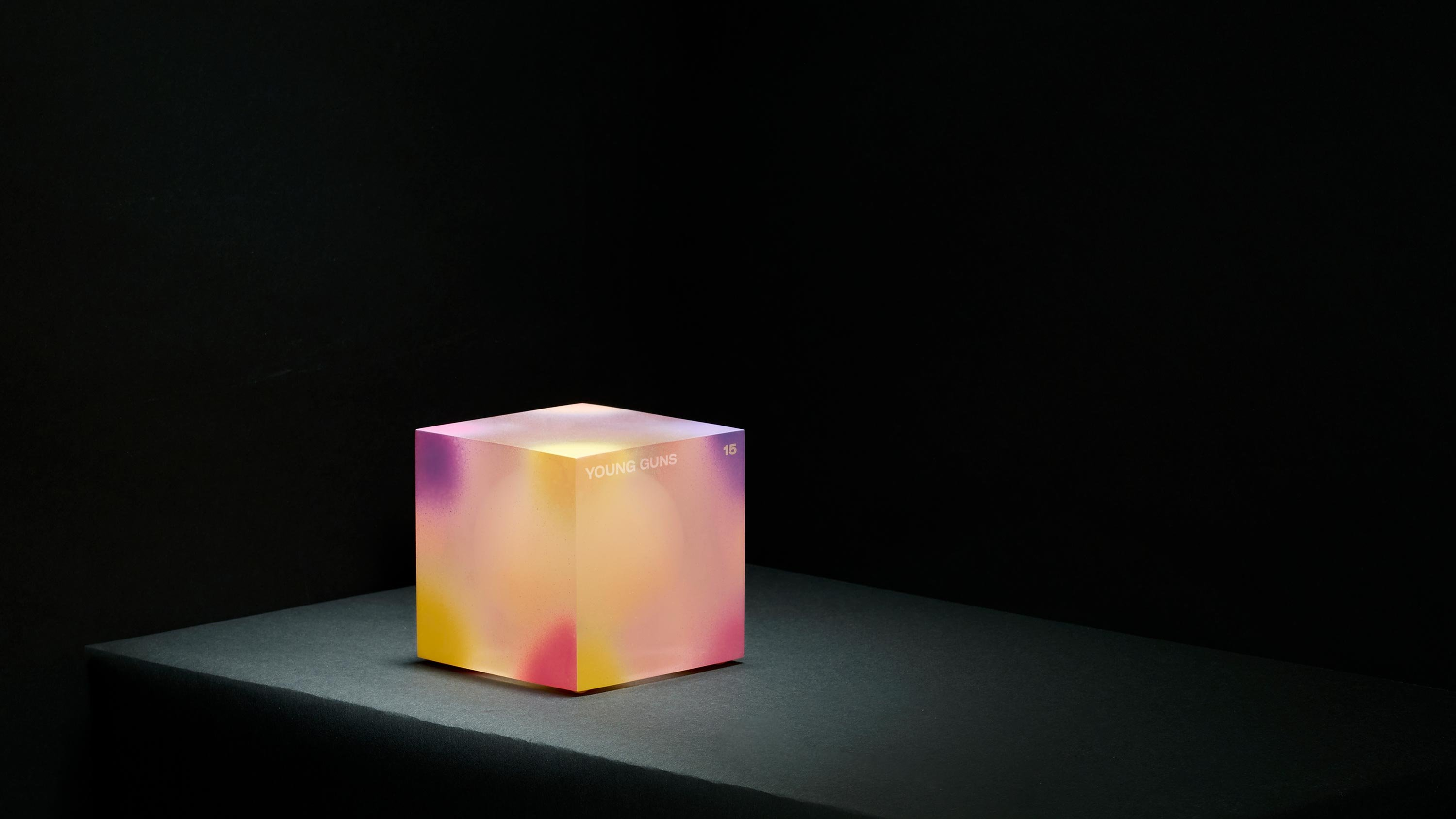 Young Guns Cube award, concept and design by RoAndCo studio