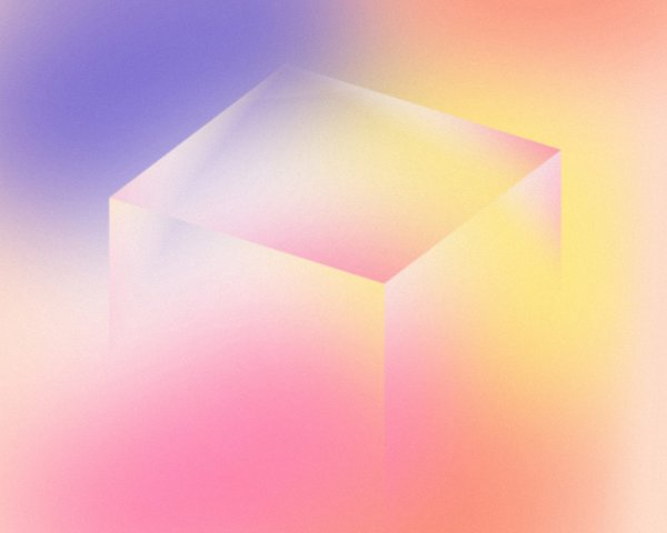 Young Guns 3D gradient cube, Design by RoAndCo